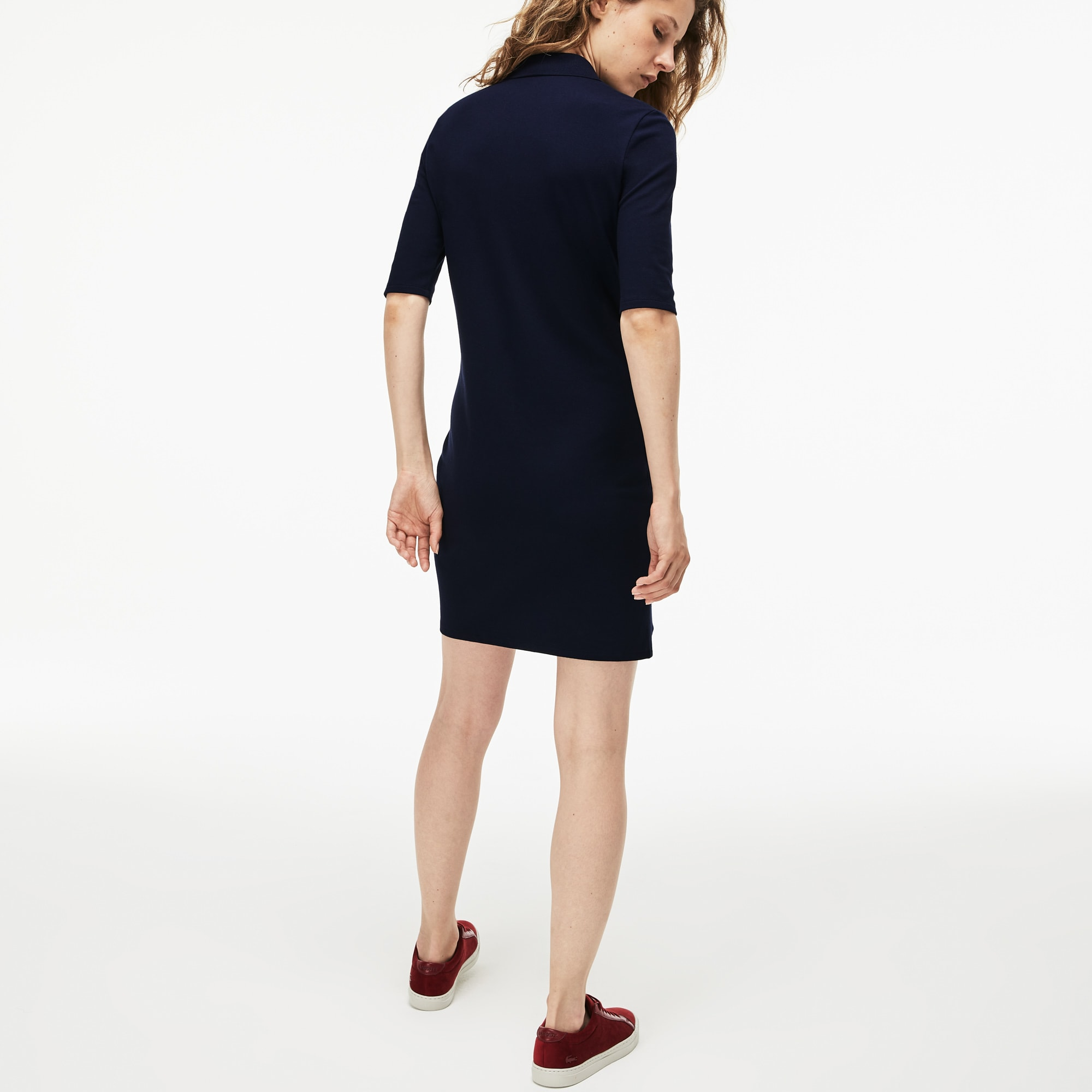 Women's Slim Fit Piqué Polo Dress