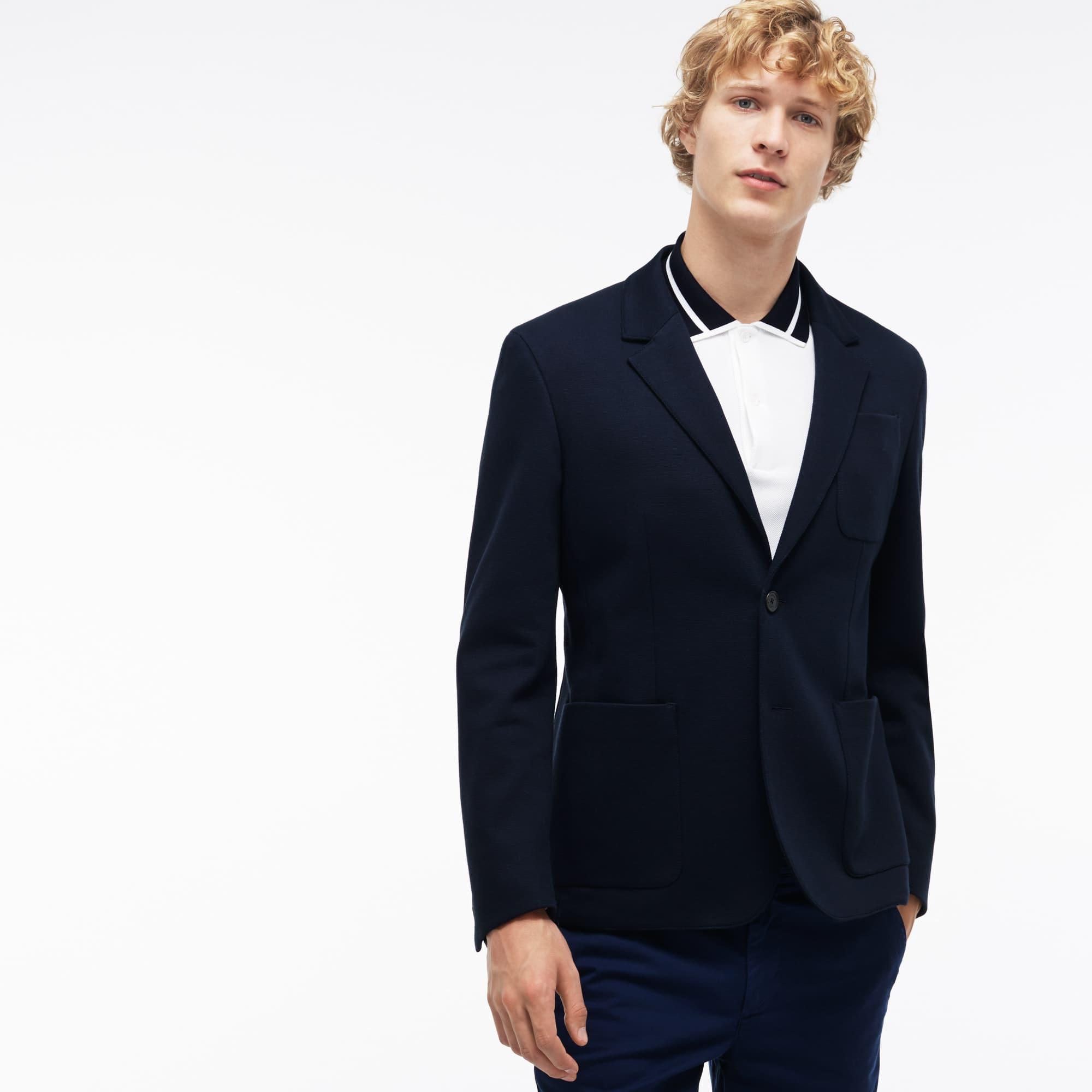 Men's Regular Fit Cotton Piqué Jacket