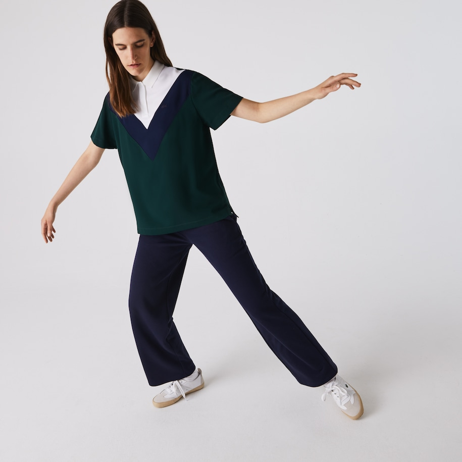Women's Lacoste Straight fit Colourblock Flowy And Lightweight Polo