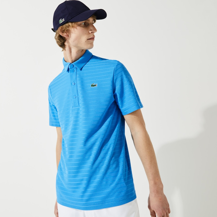 Men's SPORT Textured Breathable Golf Polo Shirt