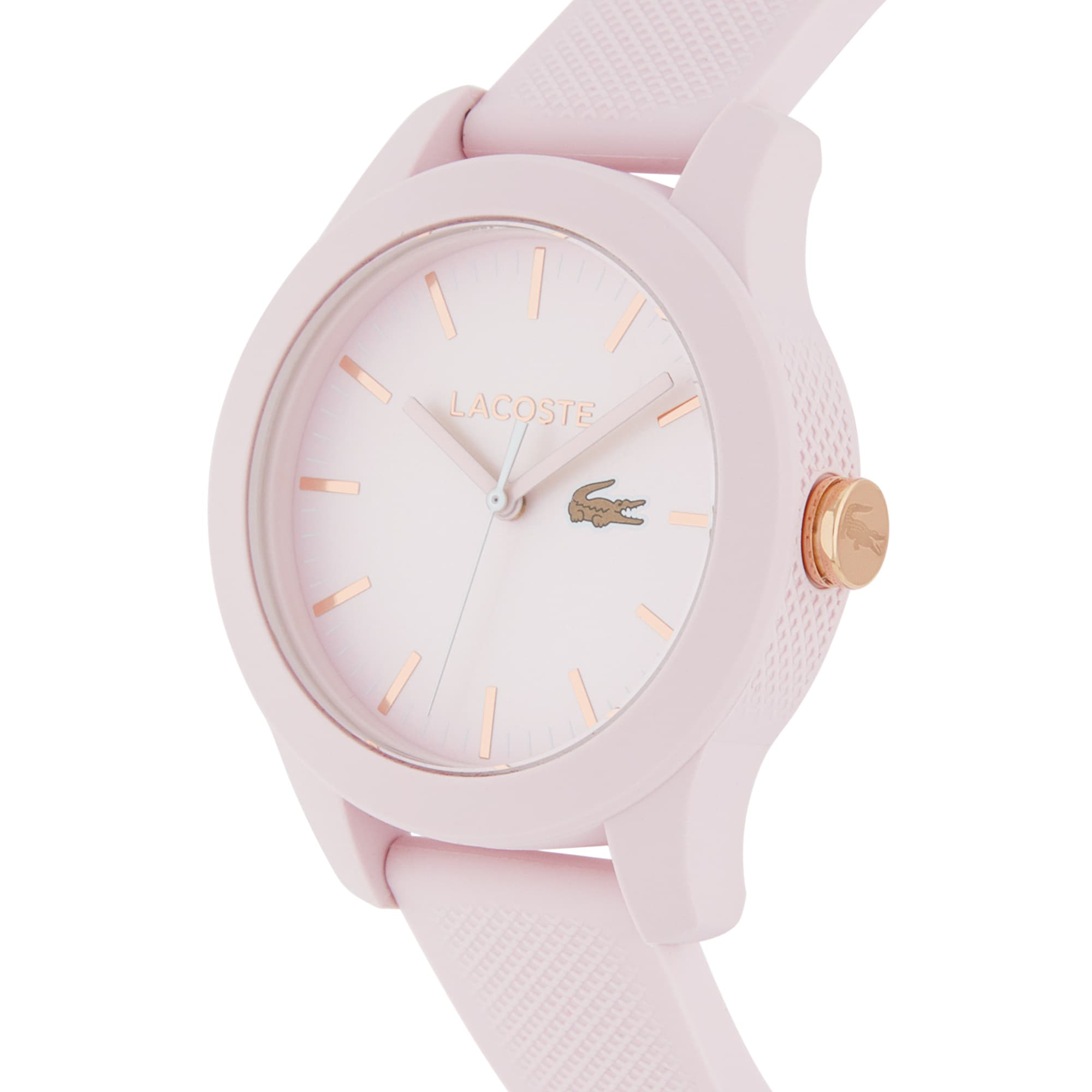 Women's Lacoste 12.12 Light Pink Silicon Strap