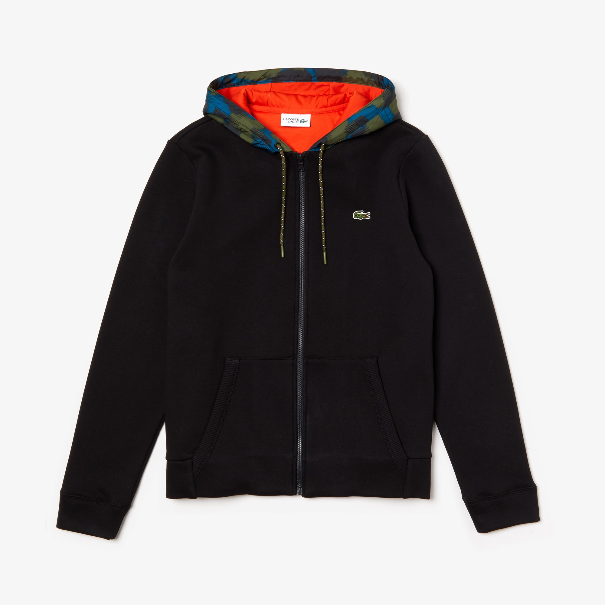 Men's SPORT Contrast Hood Fleece Zip Sweatshirt