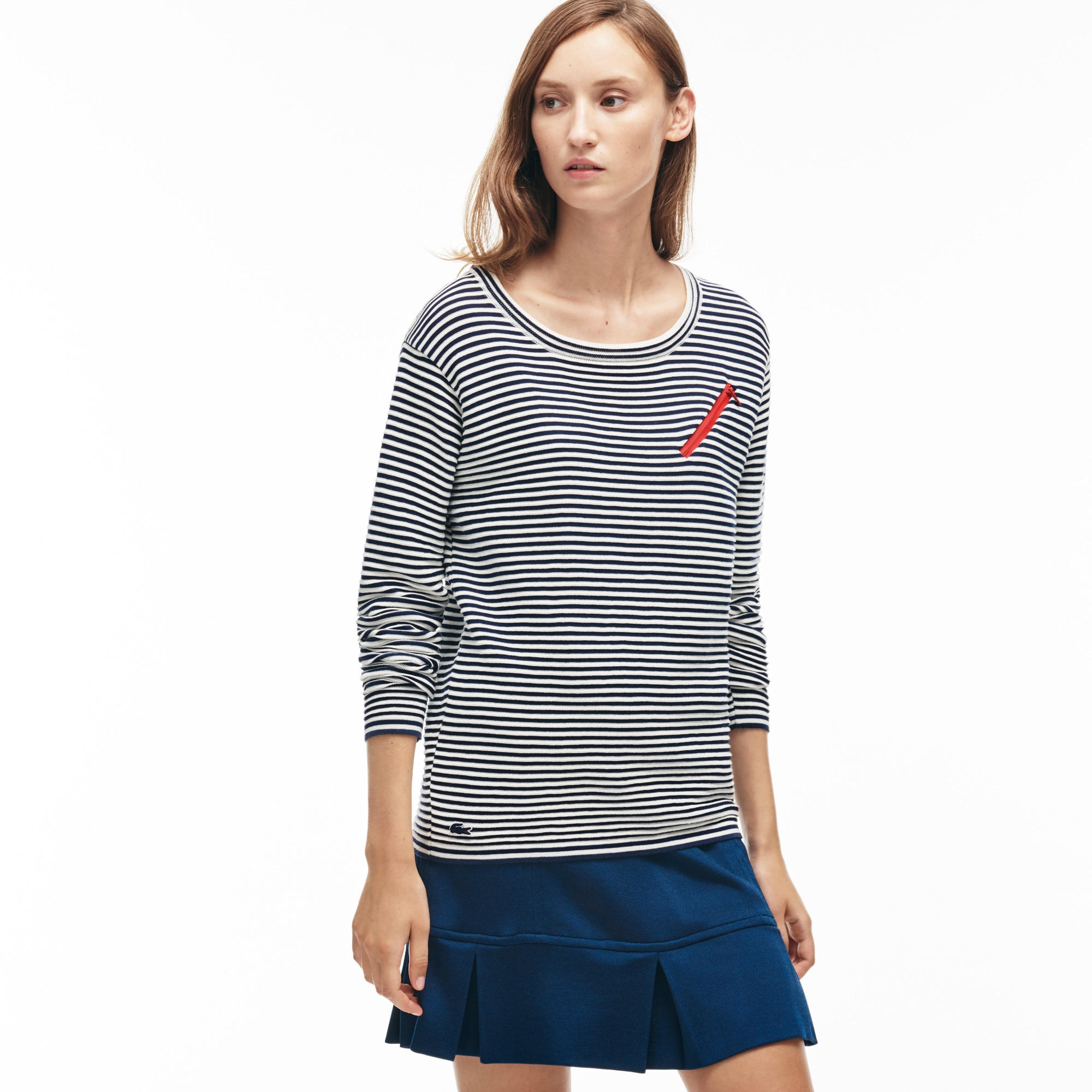 Women's Made in France Zip Nautical Shirt