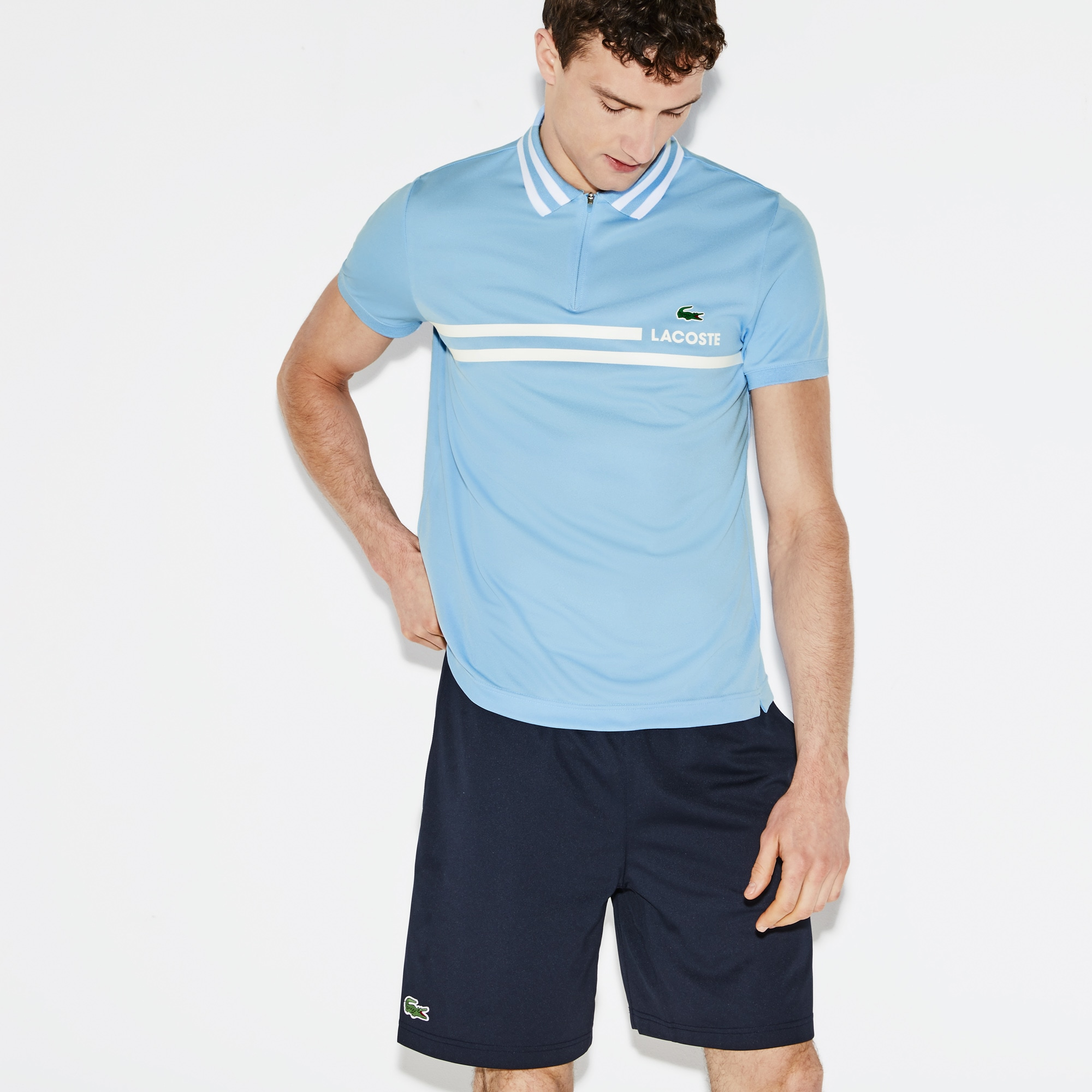 Men's SPORT Contrast Piqué Tennis Polo