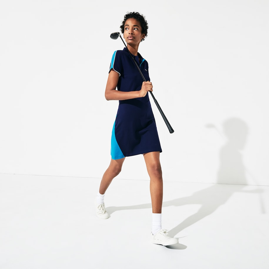 Women's SPORT Stretch Cotton Piqué Golf Polo Dress