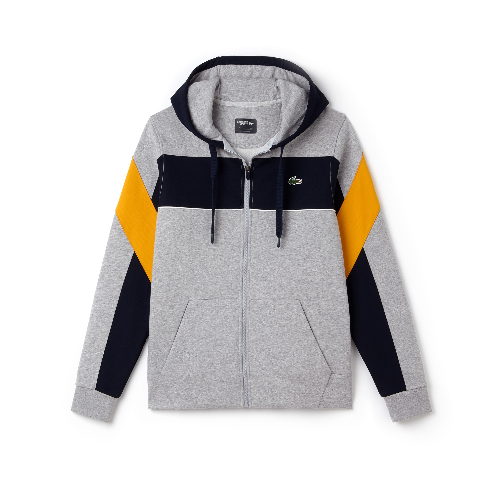 Men's SPORT Hooded Zip Colorblock Tennis Sweatshirt