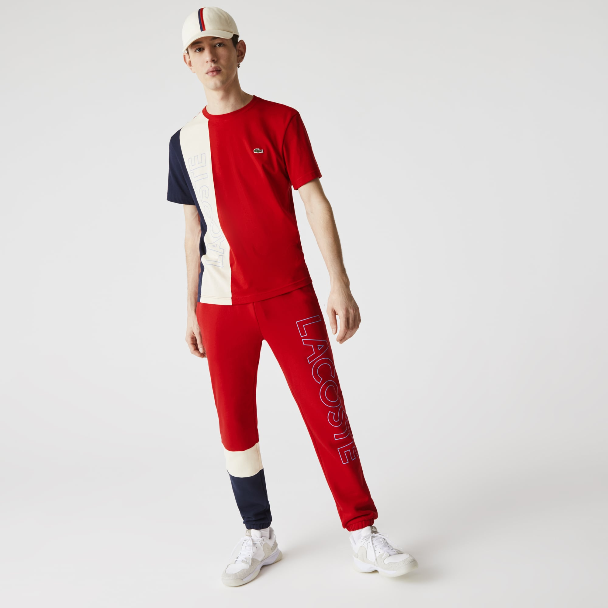 라코스테 Lacoste Men's Colorblock Fleece Track Pants