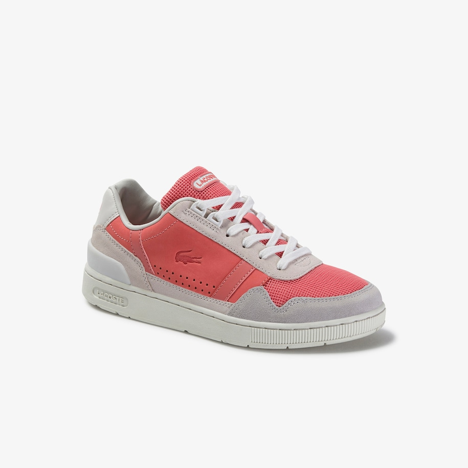 Women's T-Clip Leather and Suede Sneakers
