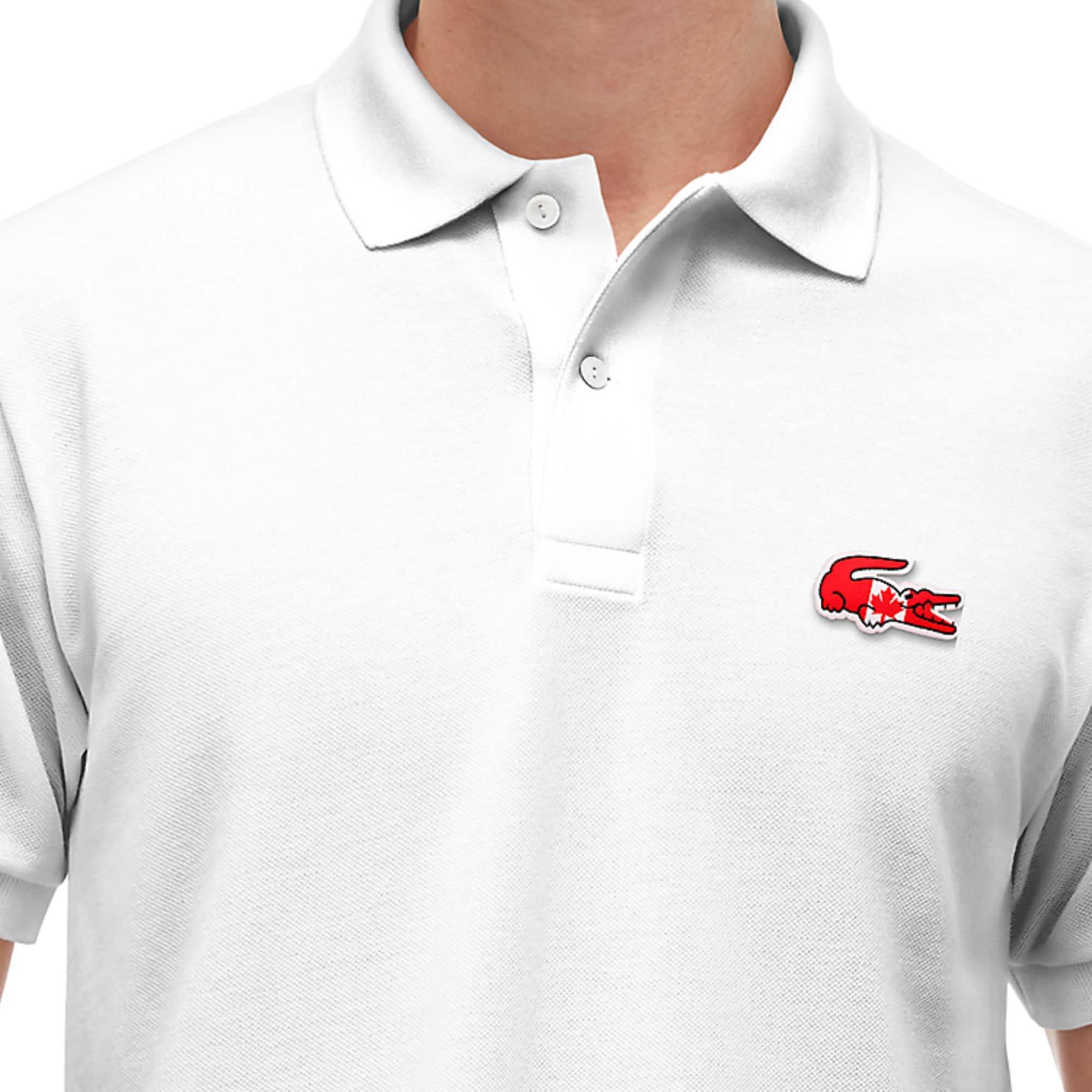 Men's LIVE Regular Fit Cloud Print Cotton Mini Piqué Polo