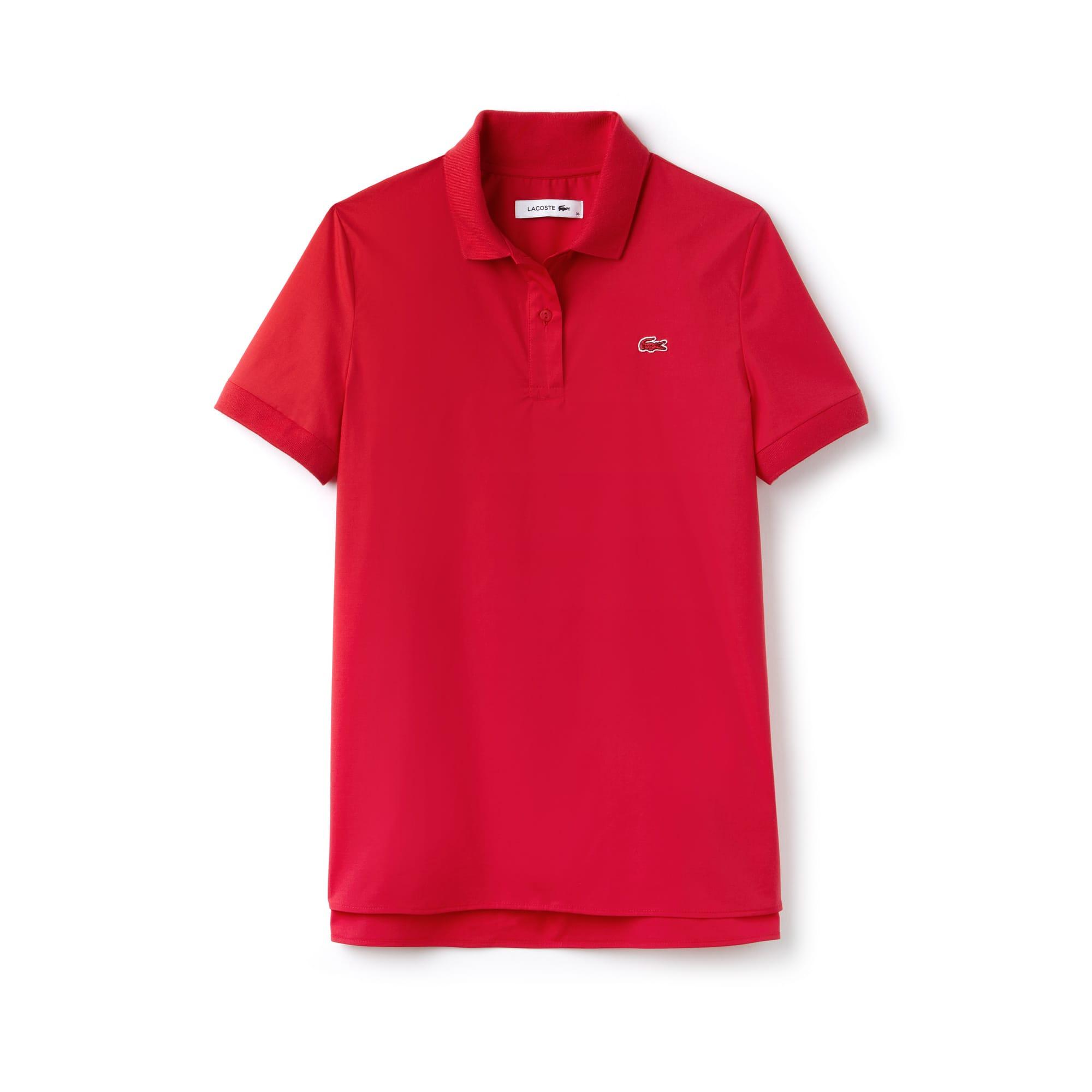 Women's Regular Fit Stretch Poplin Polo Shirt