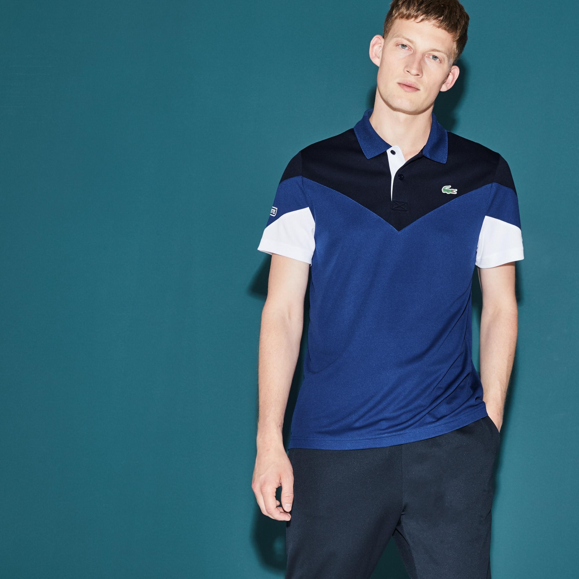 Men's  SPORT Tennis Colorblock Tech Piqué Polo