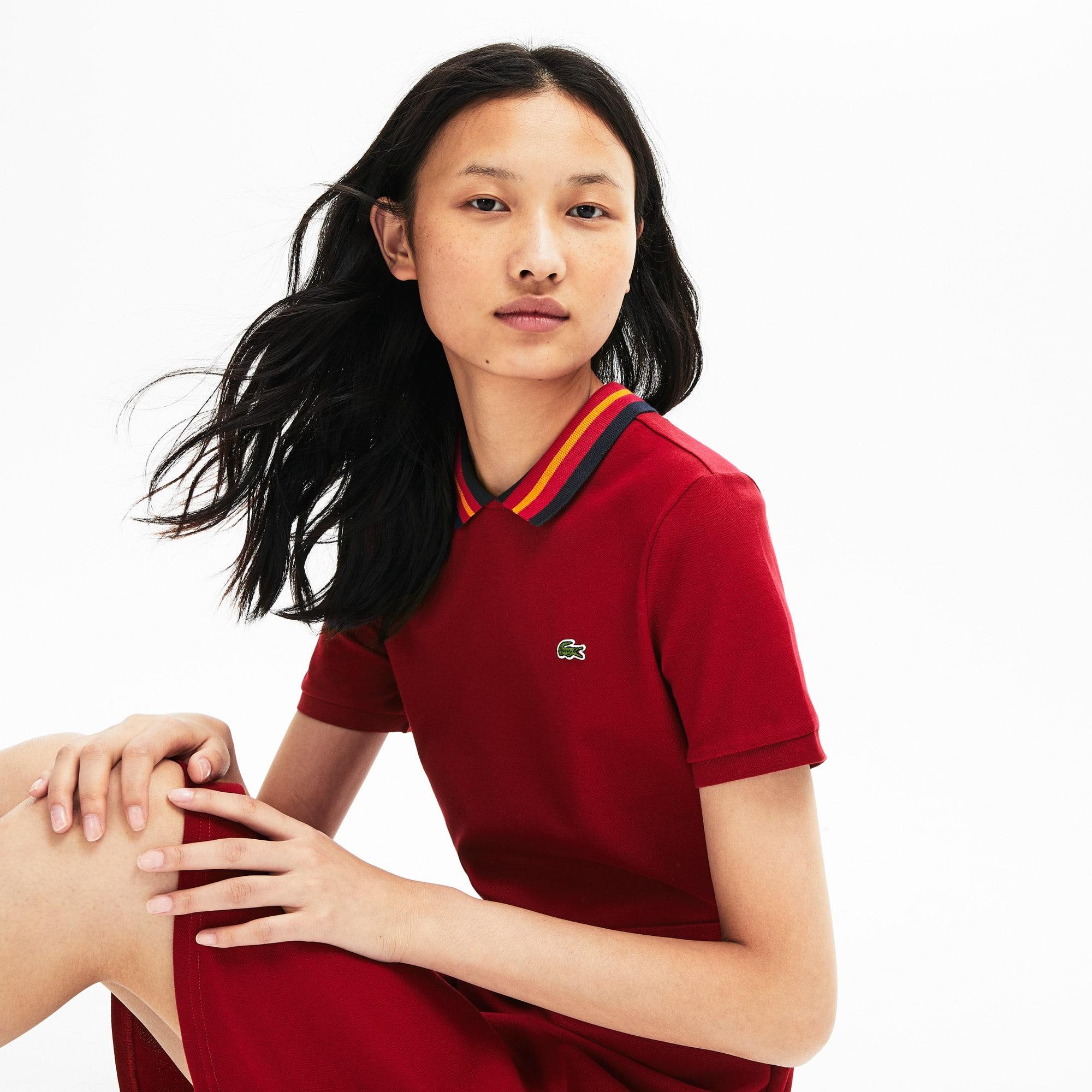 Lacoste Dresses Women's Stretch Cotton Piqué Polo Dress