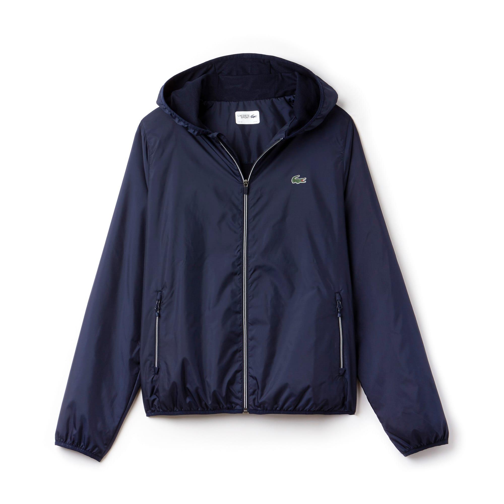 Men's  SPORT Tennis Water-Resistant Hooded Jacket