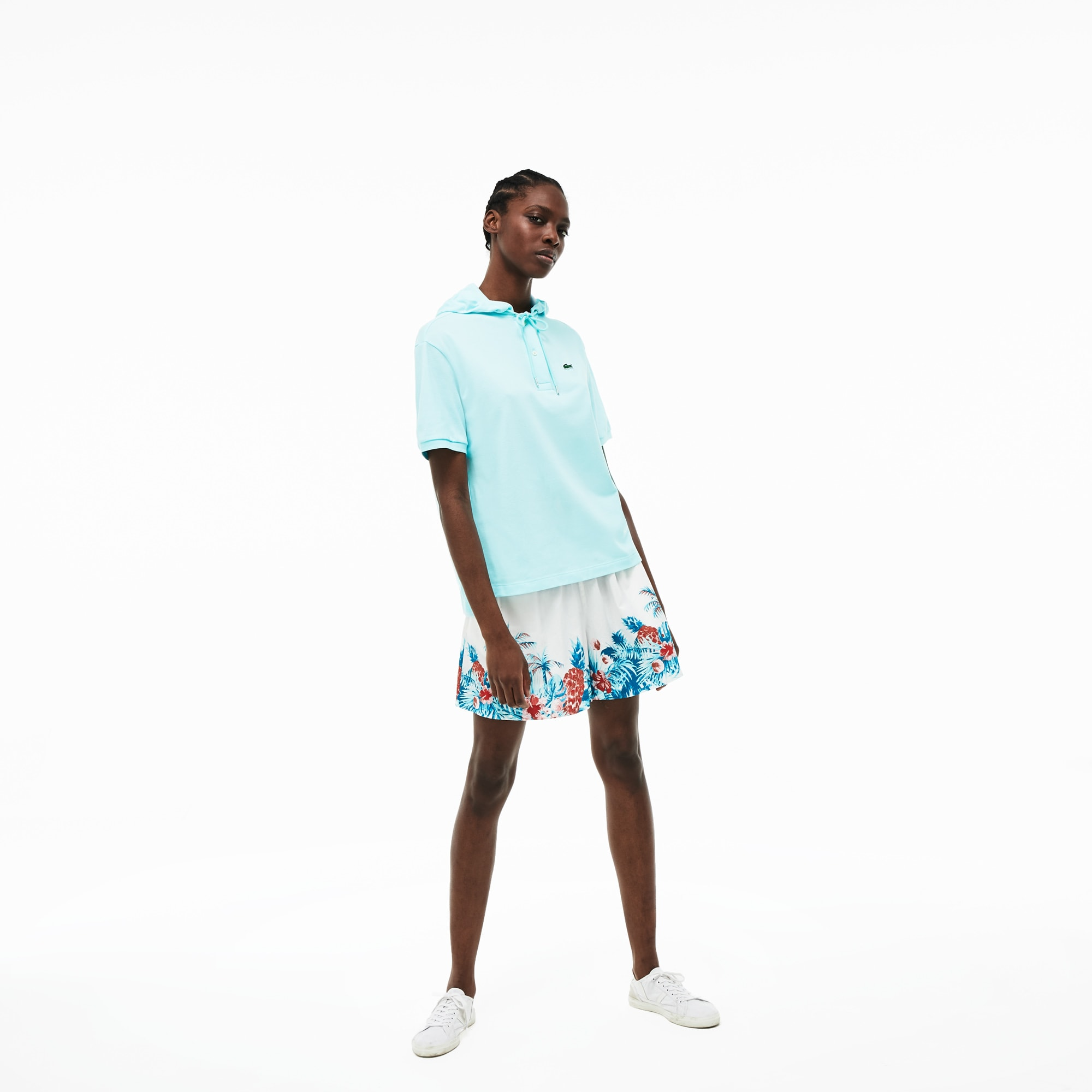 Women's Relaxed Fit Stretch Mini Piqué Polo