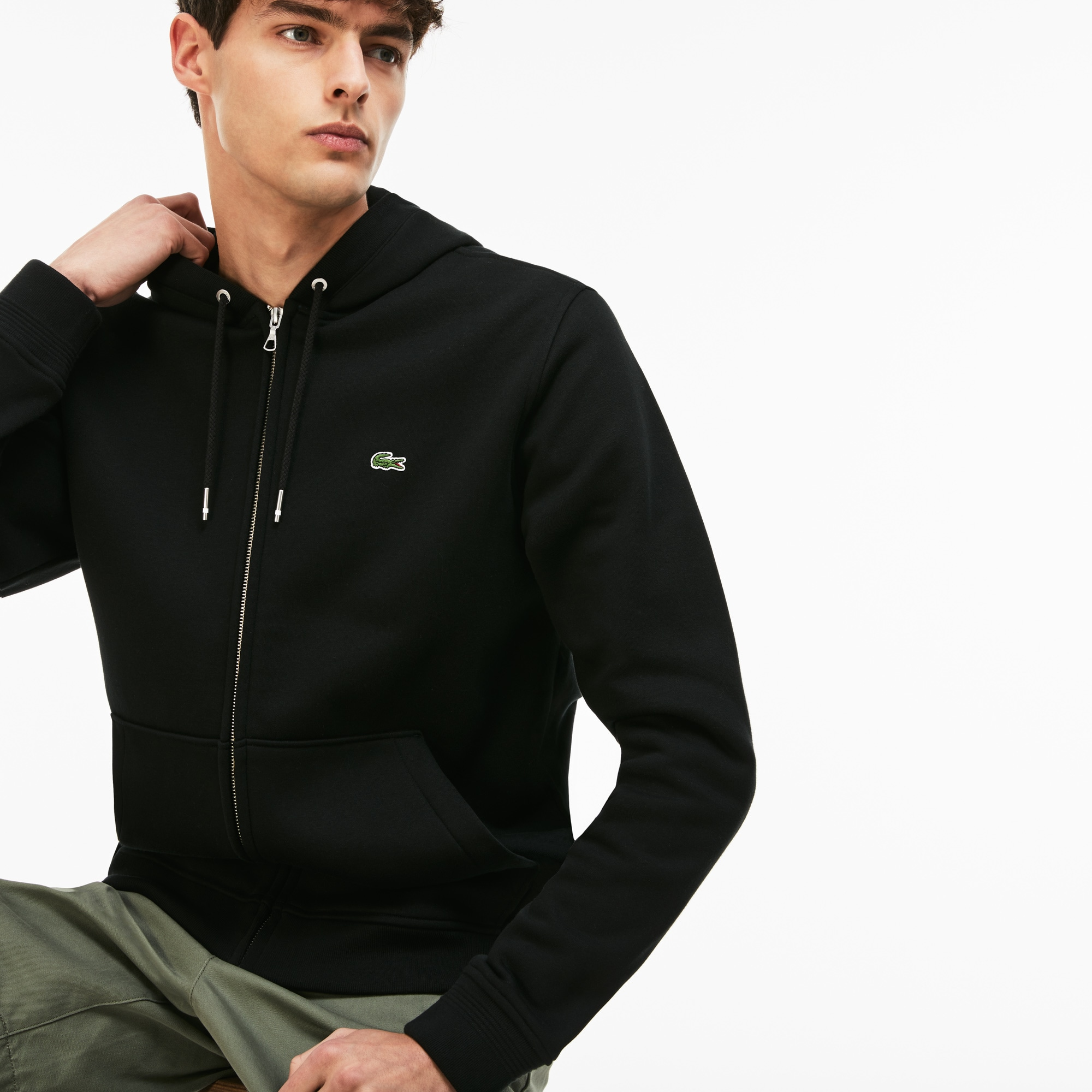 Men's Hooded Zip Brushed Sweatshirt