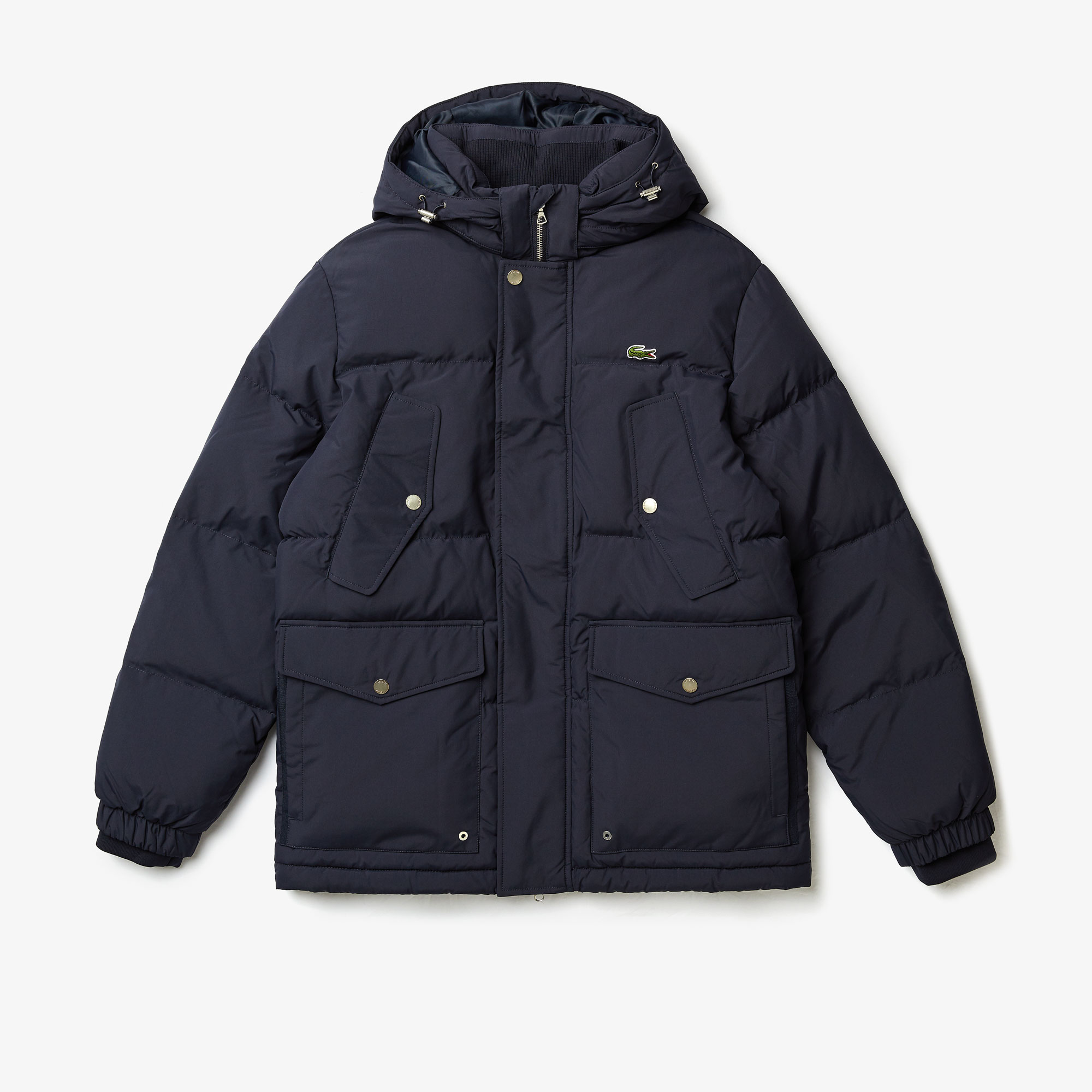 Lacoste Jackets Men's Detachable Hood Water-Resistant Quilted Jacket