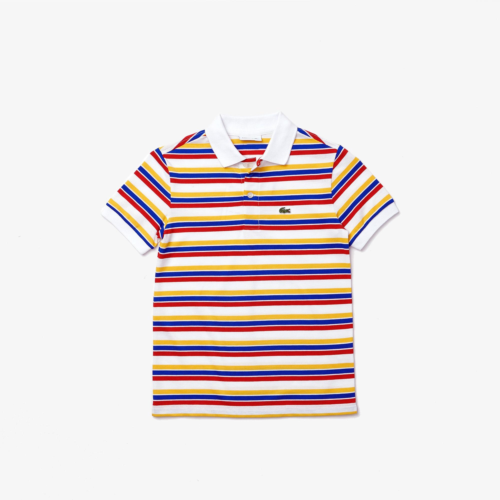 라코스테 보이즈 스트라이프 폴로티 Lacoste Boys' Multicolor Stripe Polo