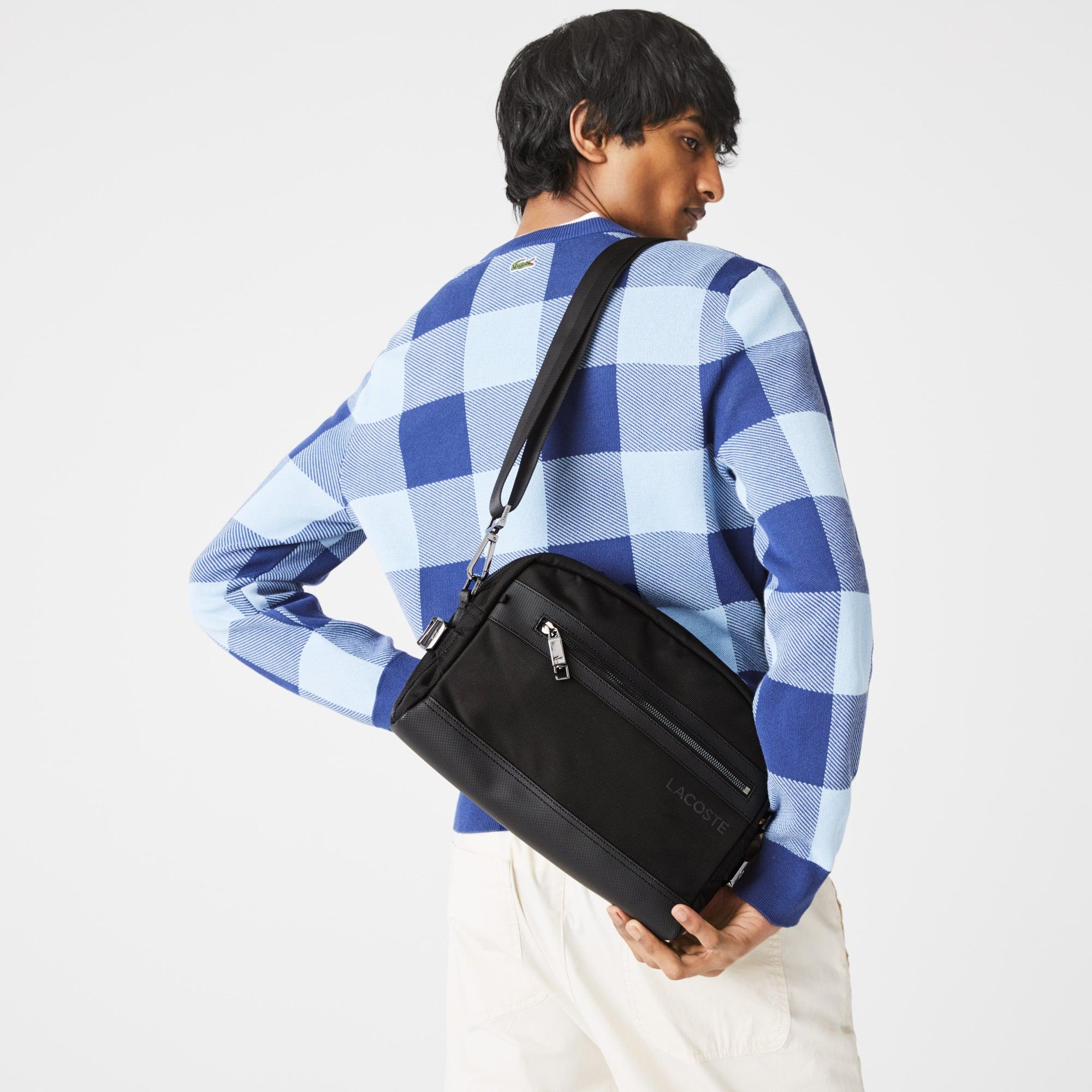라코스테 Lacoste Men's L On The Go Shoulder Strap Messenger Bag