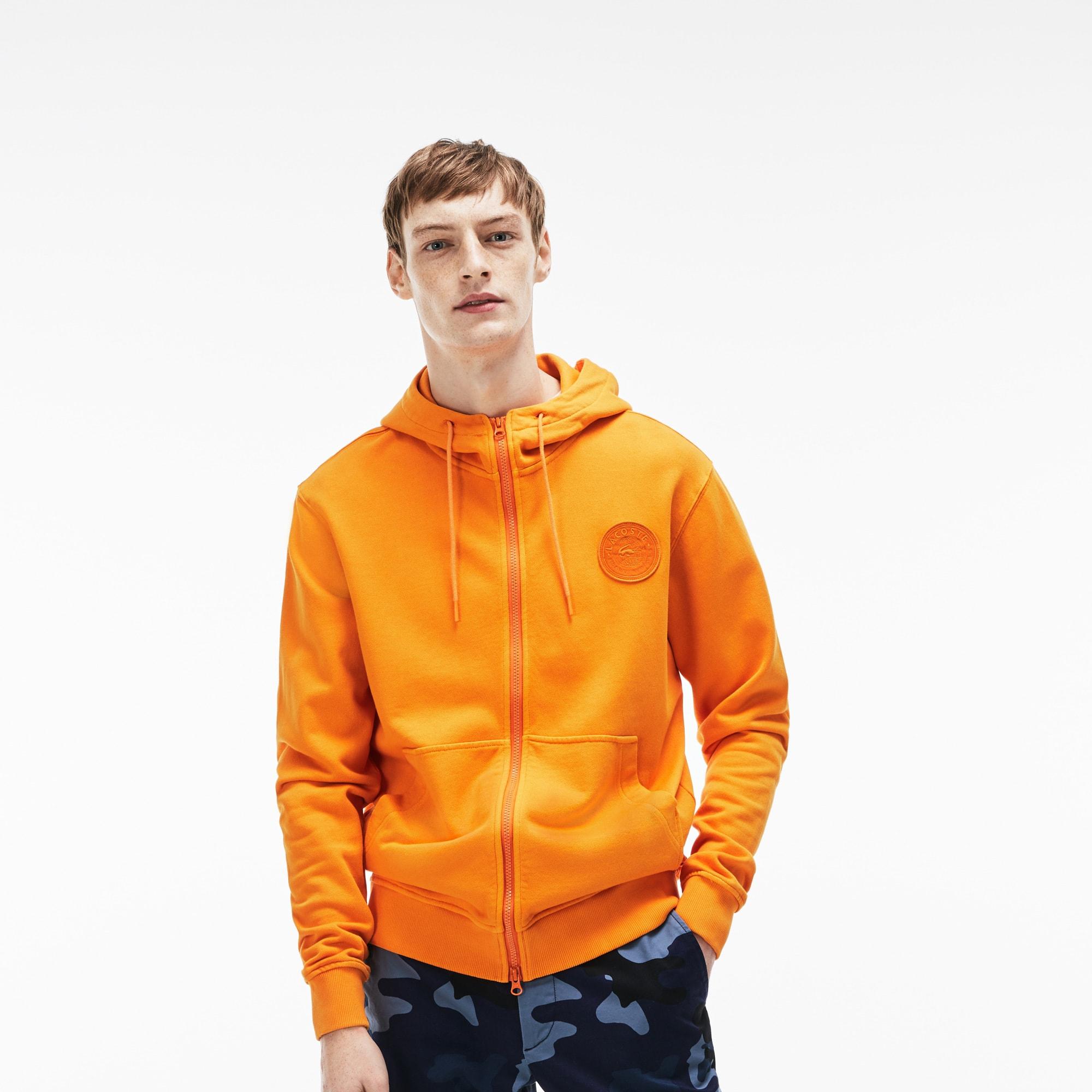 Men's LIVE Hood Fleece Zip Sweatshirt With Badge