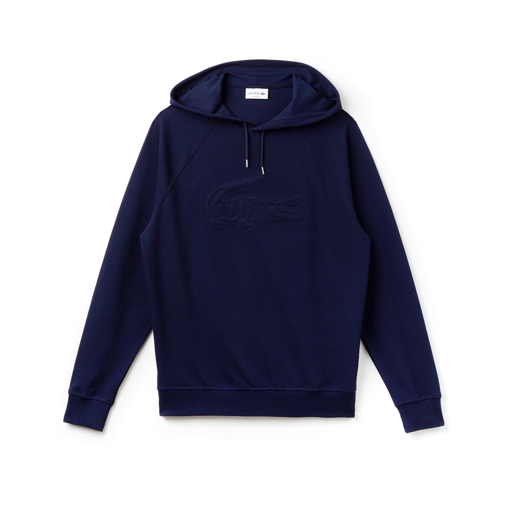 Men's Oversized Embroidered Piqué Sweatshirt