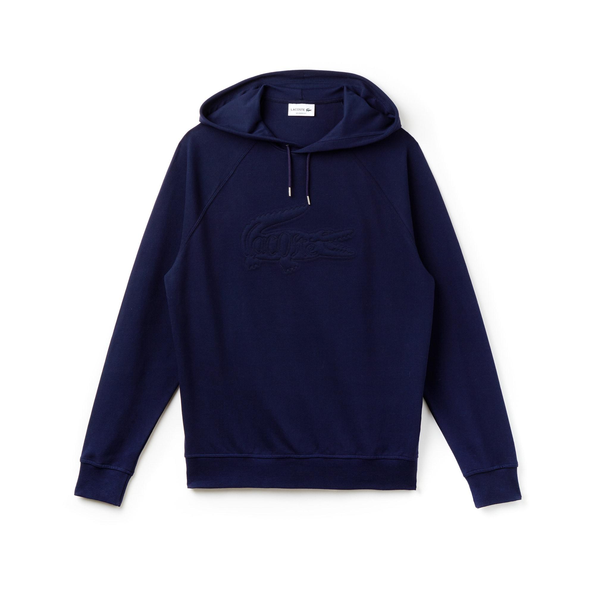 Men's Oversized Embroidered Piqué Sweatshirt