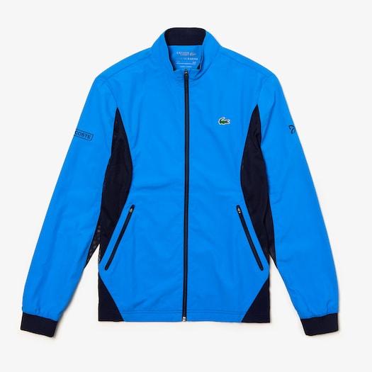 라코스테 Lacoste Mens SPORT Novak Djokovic Full-Zip Jacket,Blue / Navy Blue - RDT
