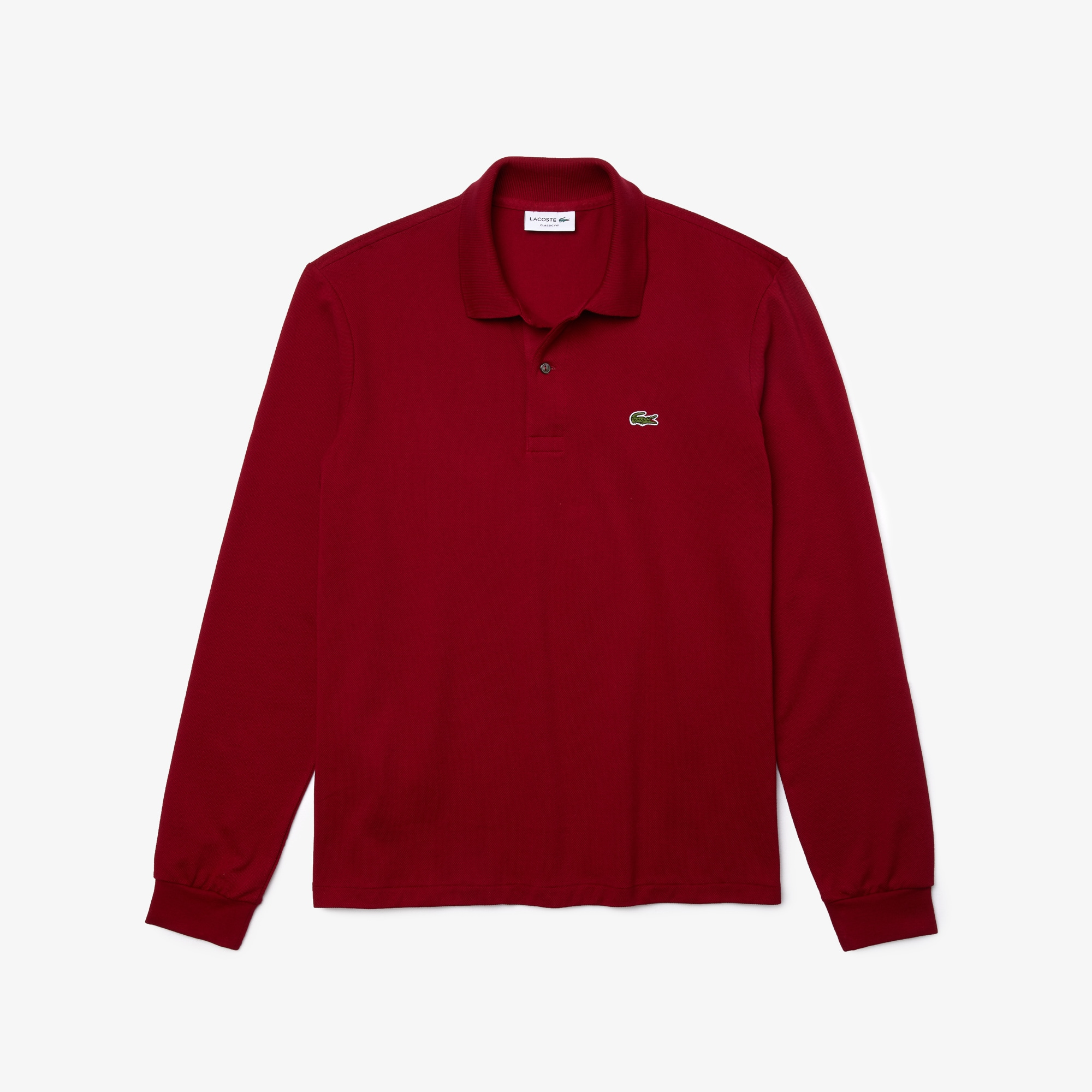 Men 39 s polo shirts lacoste polo shirts for men lacoste for Mens long sleeve pique polo shirts