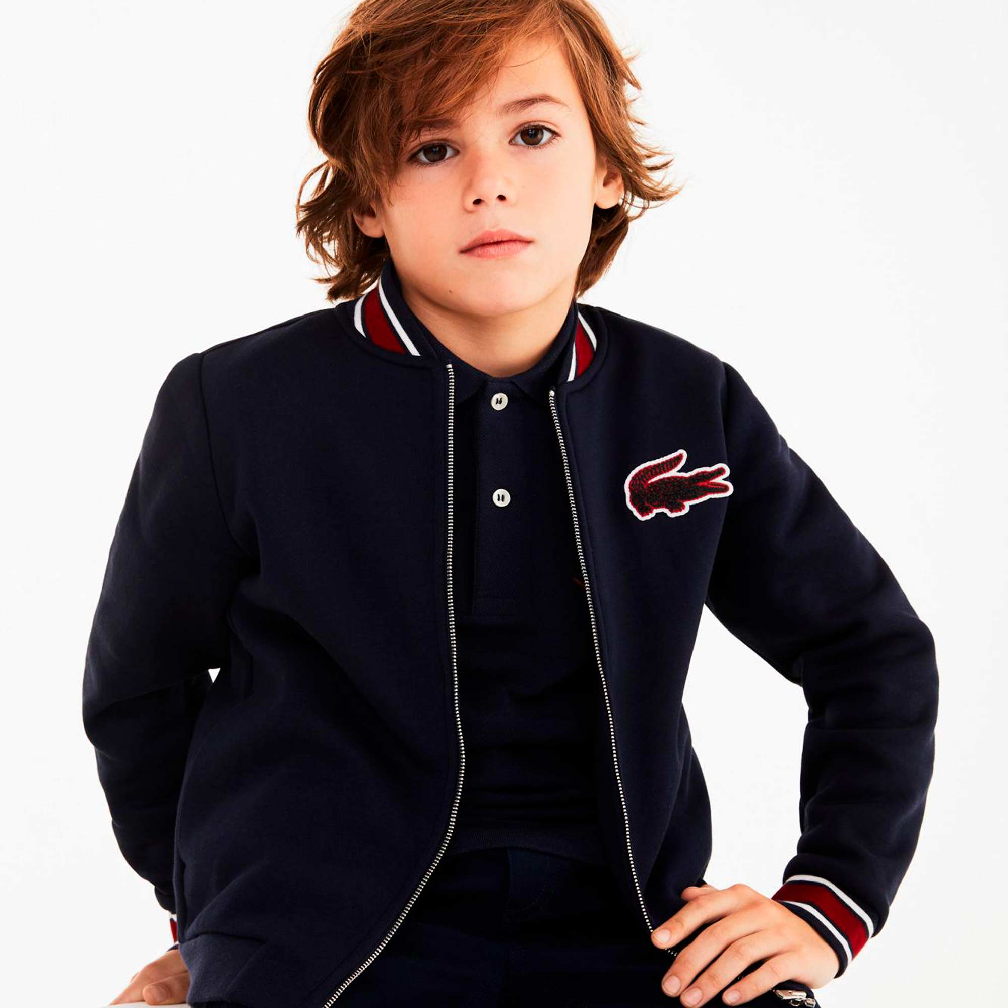Boys' Croc Patch Varsity Jacket