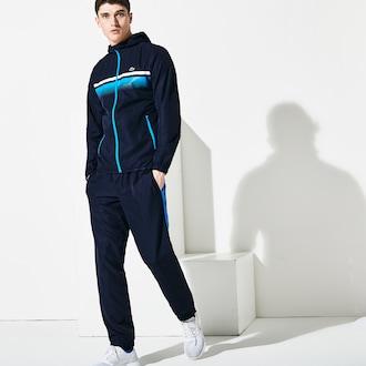 라코스테 Lacoste Mens SPORT Tennis Tracksuit,Navy Blue / Blue / White - 9X4