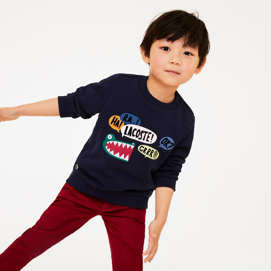 Boys' Graphic Croc Pattern Fleece Sweatshirt