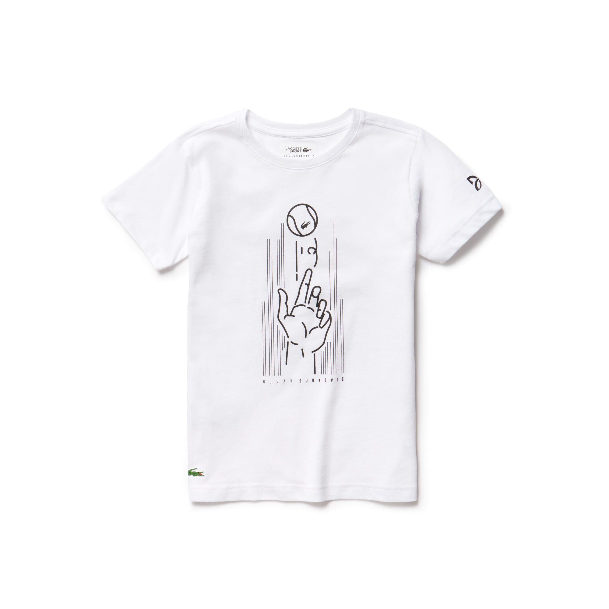 Boys' SPORT Print Technical Jersey T-shirt -  x Novak Djokovic Support With Style - Off Court Collection