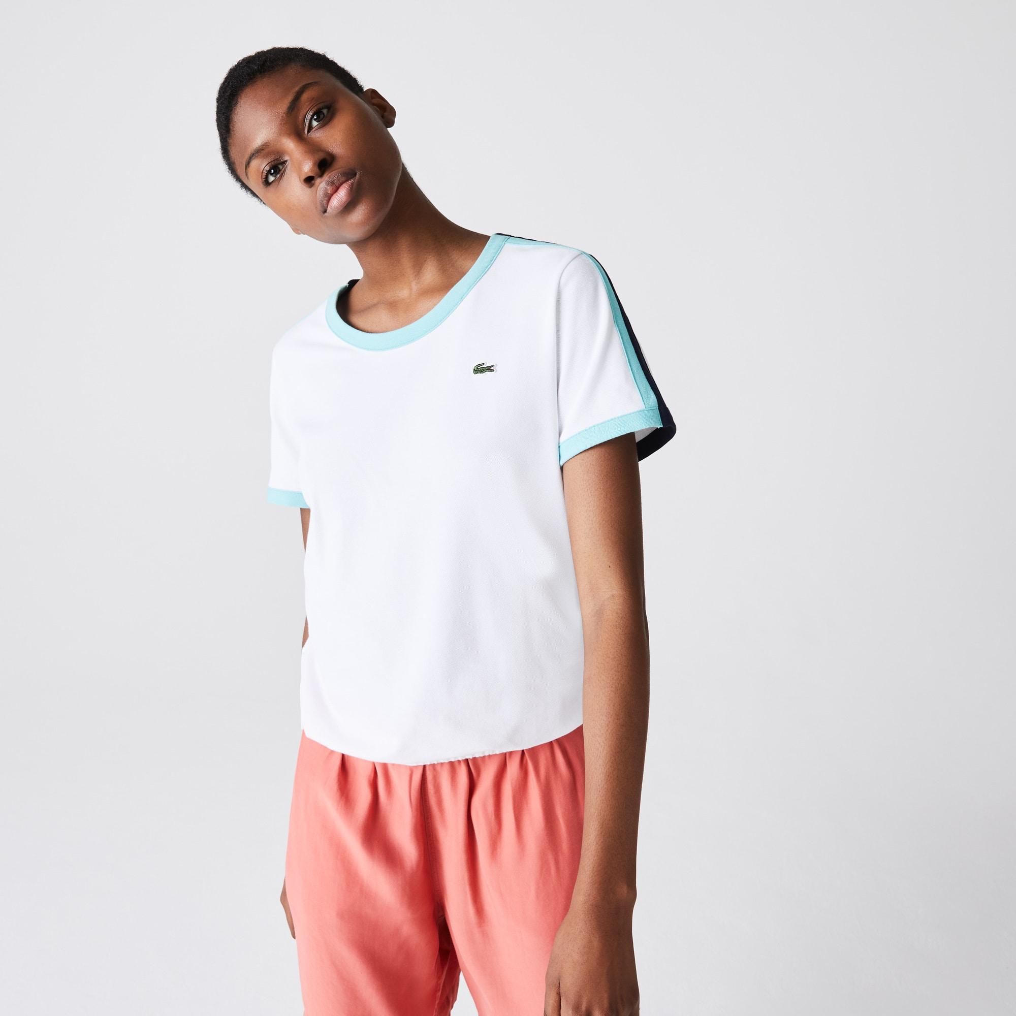 라코스테 스포츠 '롤랑가로스 에디션' 스트레치 코튼 티셔츠 Lacoste Womens SPORT Roland Garros Stretch Cotton T-Shirt