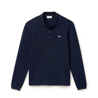 라코스테 Lacoste Mens Slim Fit Stretch Mini Pique Polo Shirt,Navy Blue - 166 (Selected colour)