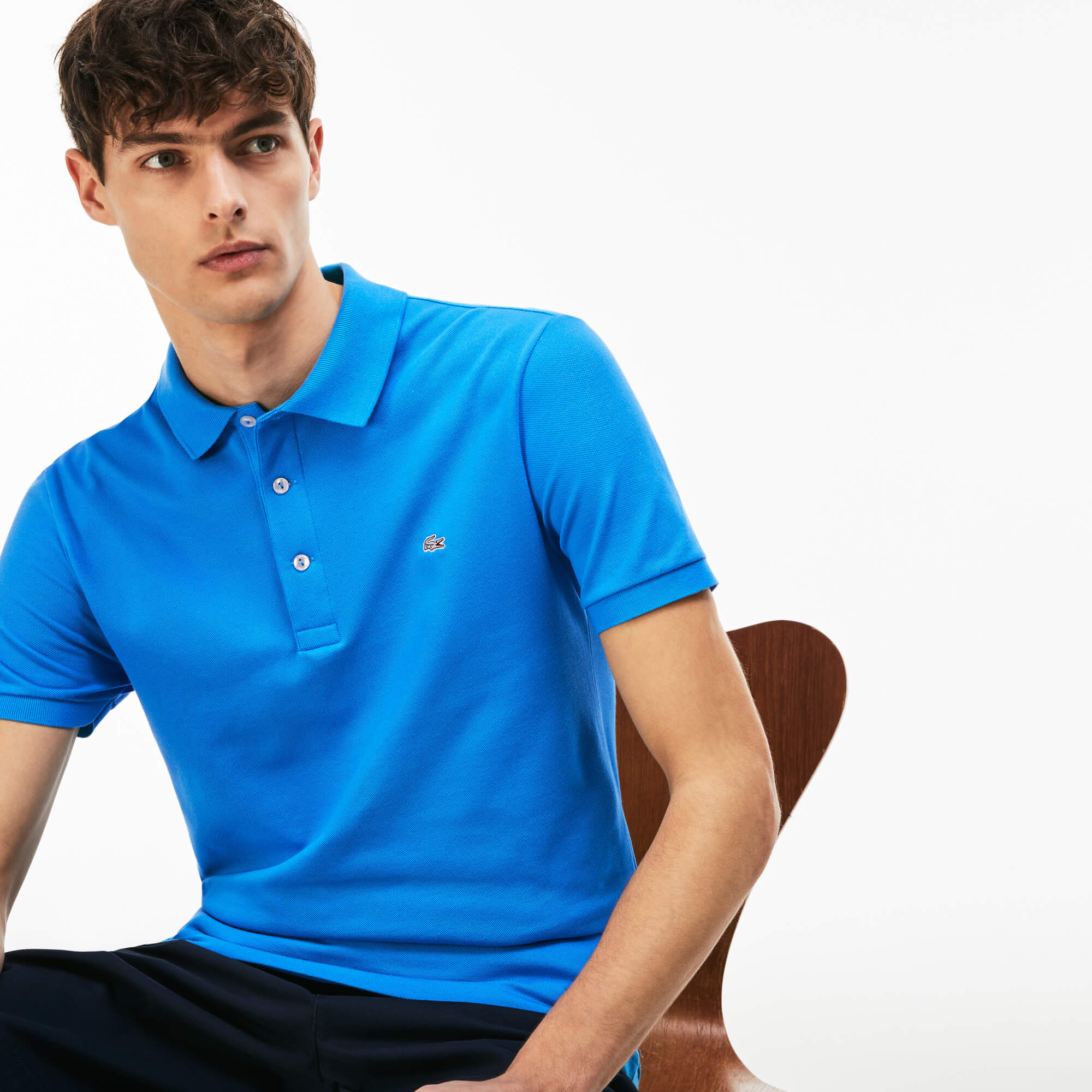 Men's Slim Fit Stretch Petit Piqué Polo Shirt