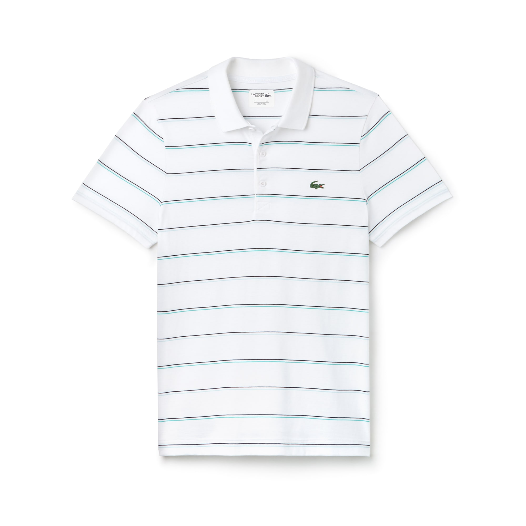 Men's SPORT Striped Cotton Jersey Tennis Polo
