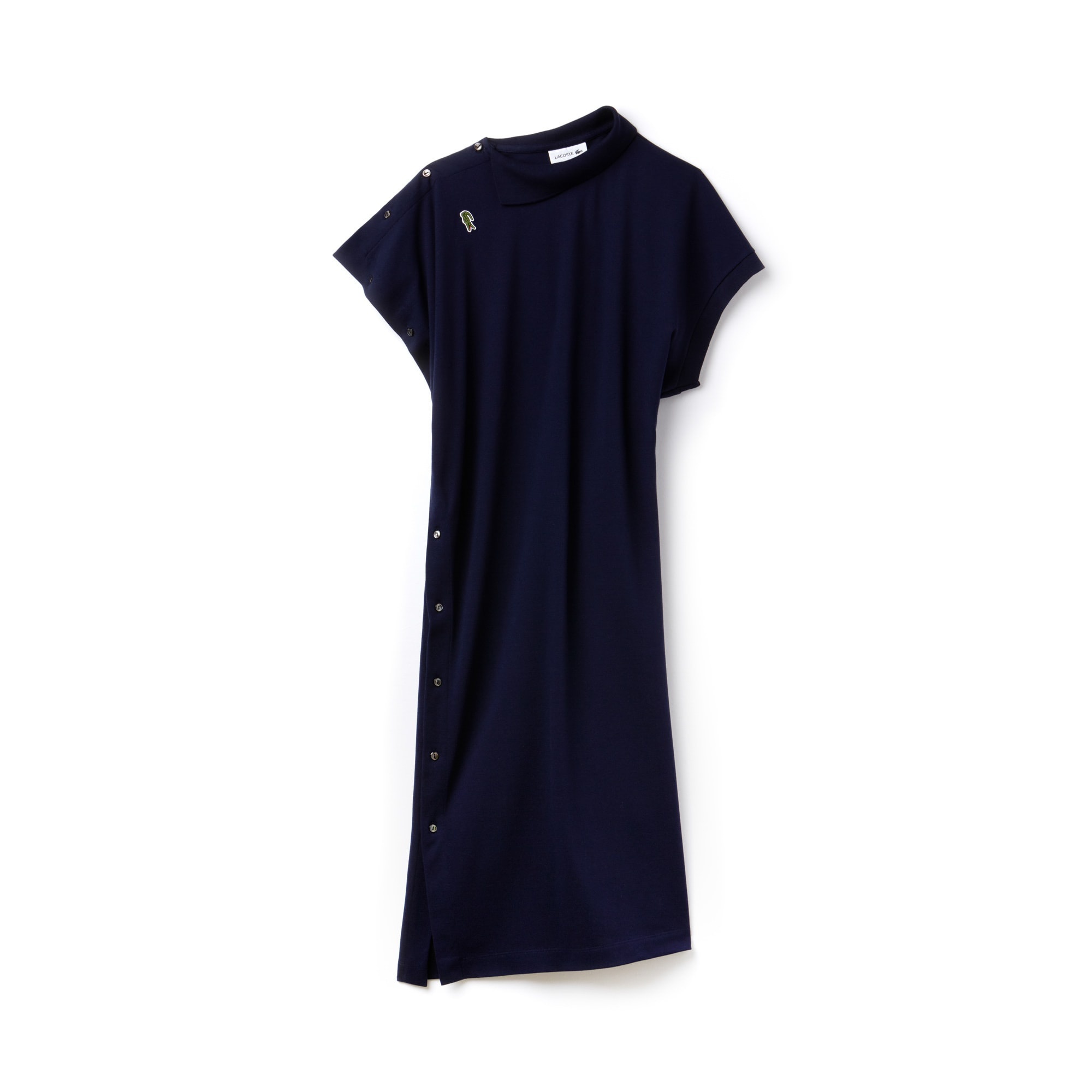 Women's Fashion Show Asymmetrical Piqué Polo Dress