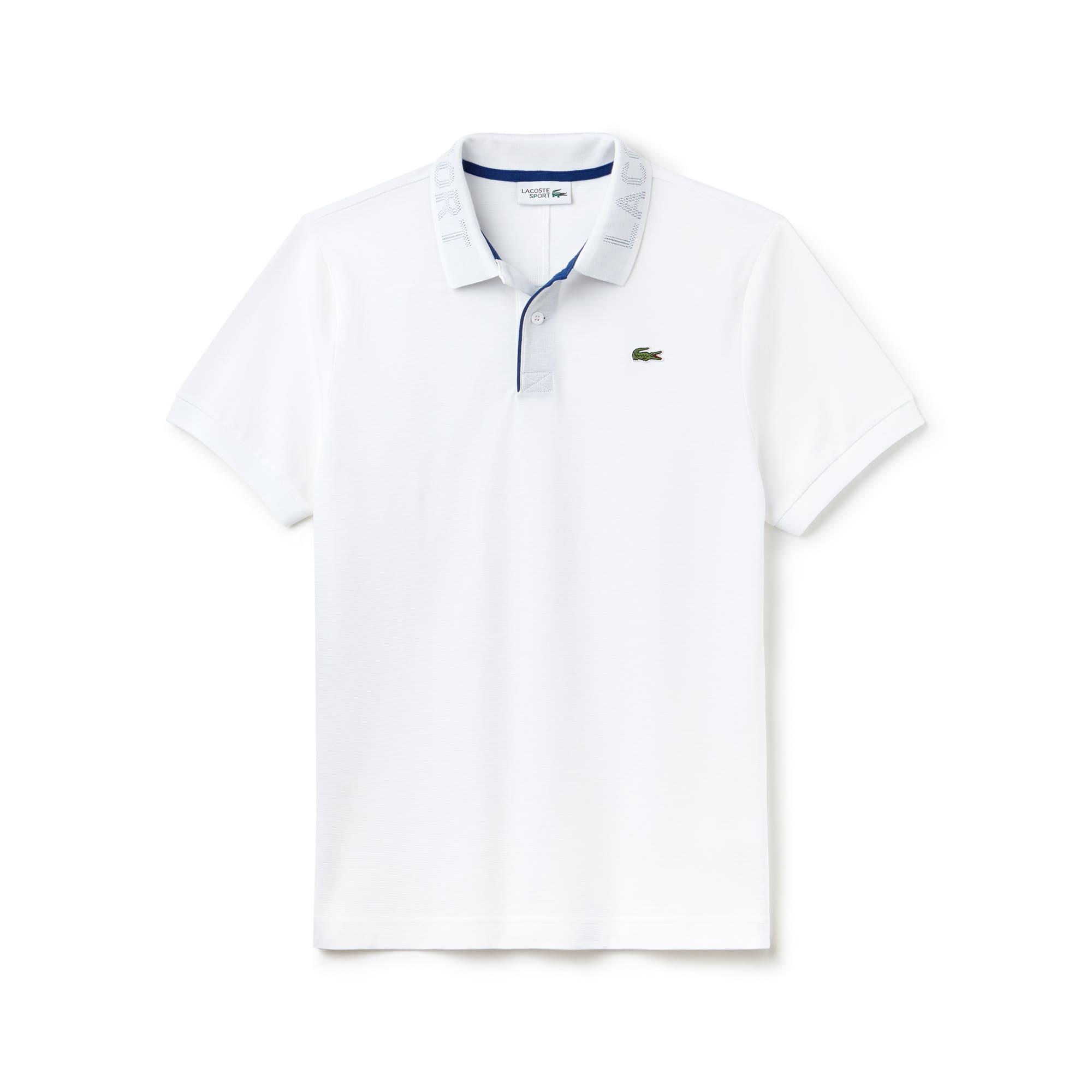 Men's Lacoste SPORT Print Collar Ultra-Light Cotton Tennis Polo