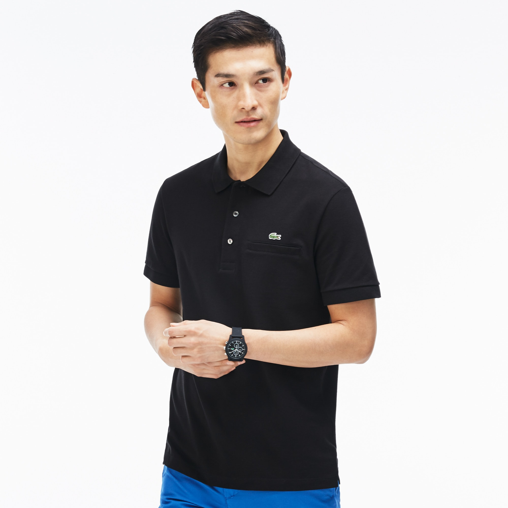 Men's Regular Piqué Pocket Polo