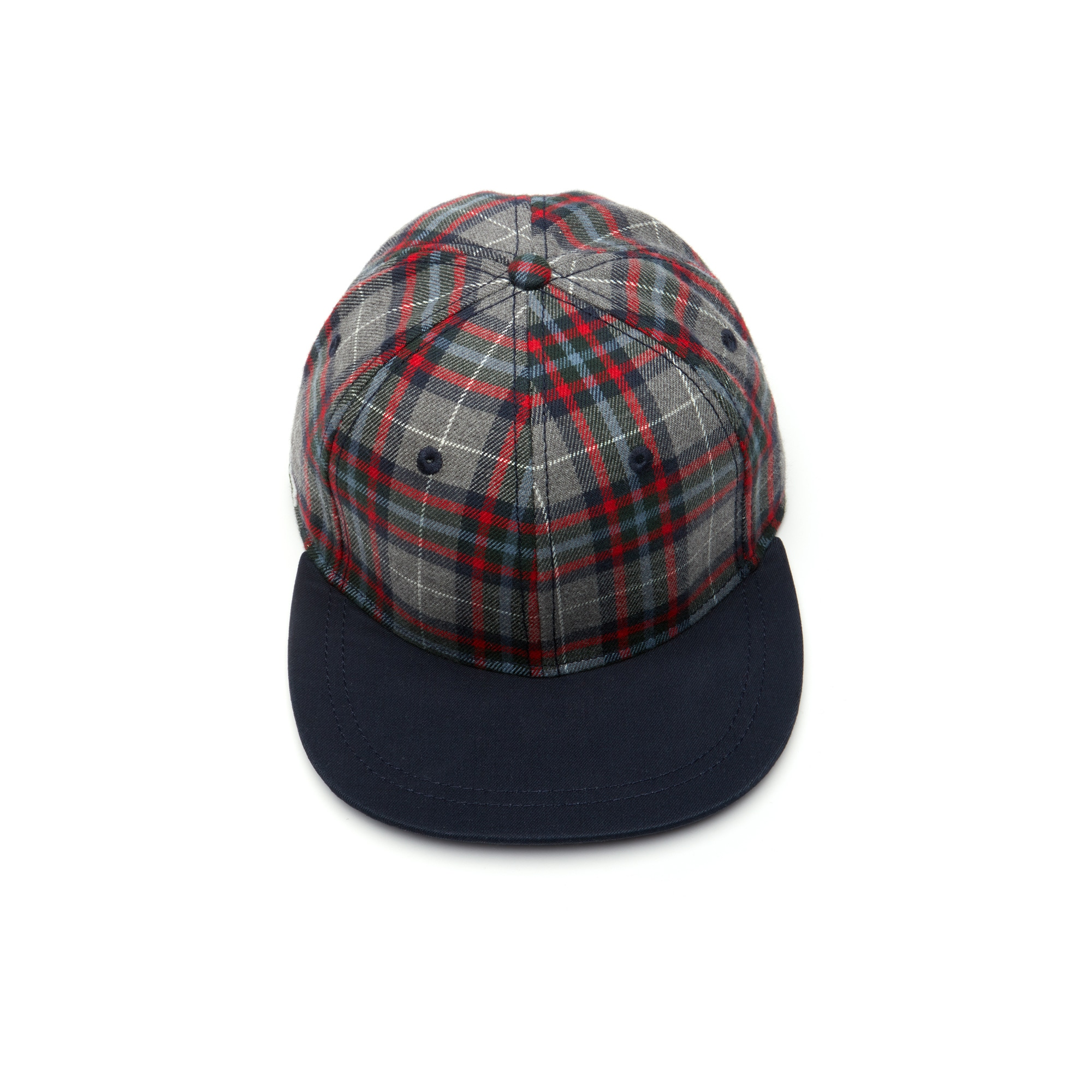 LIVE Contrasting Visor Check Flannel Cap