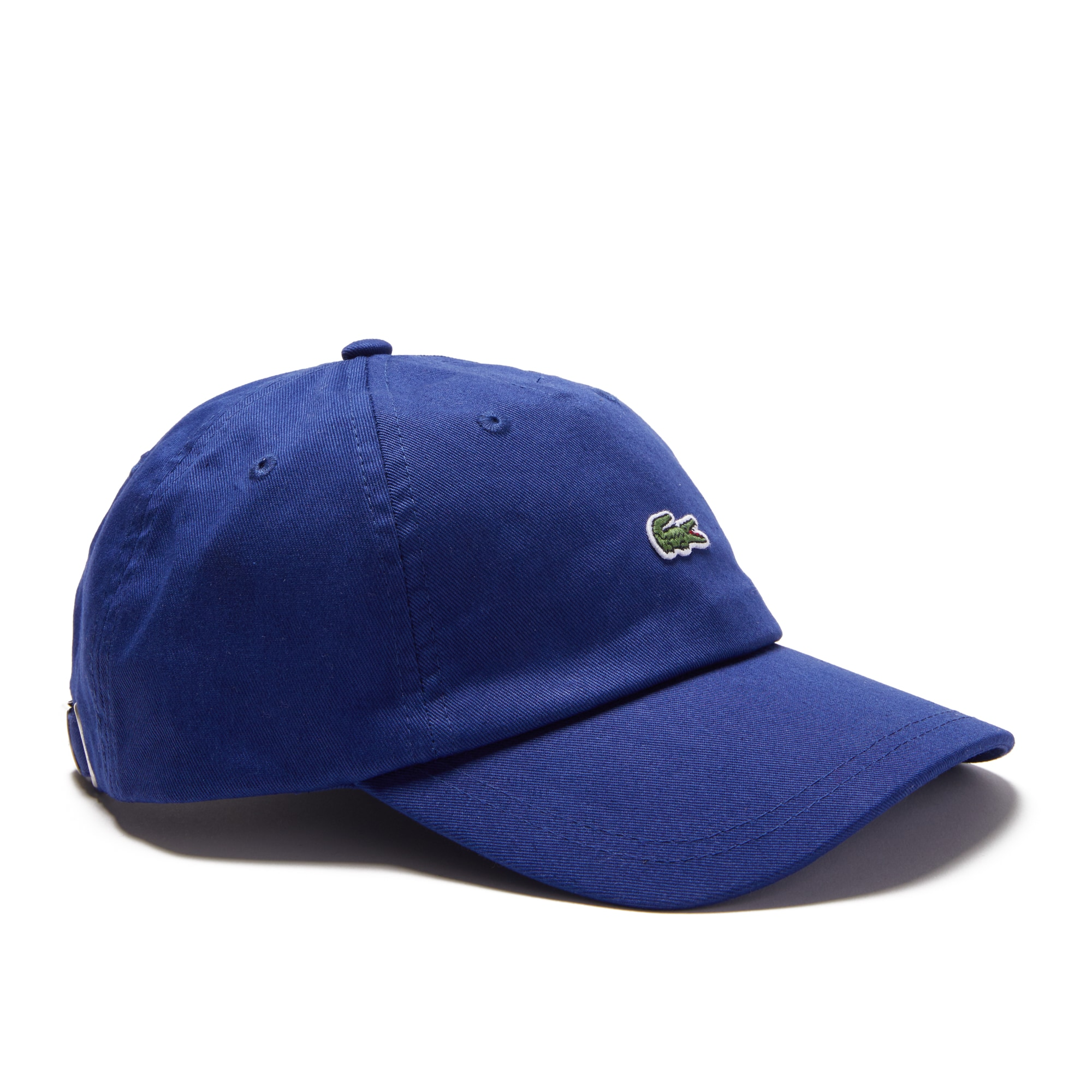 라코스테 Lacoste Mens Embroidered Crocodile Cotton Cap,navy blue