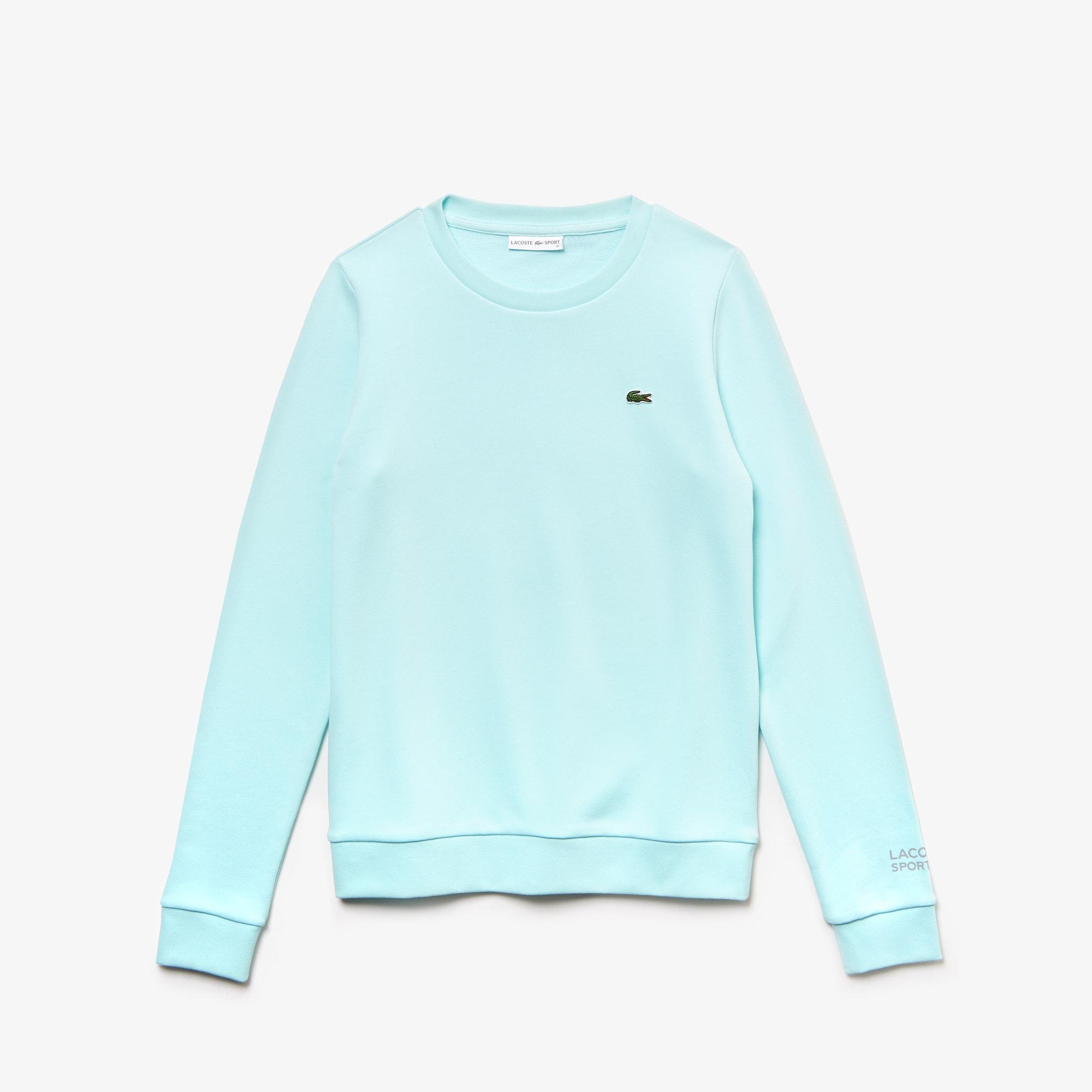 라코스테 테니스 후리스 스웻셔츠 Lacoste Womens SPORT Tennis Cotton Fleece Sweatshirt,light blue