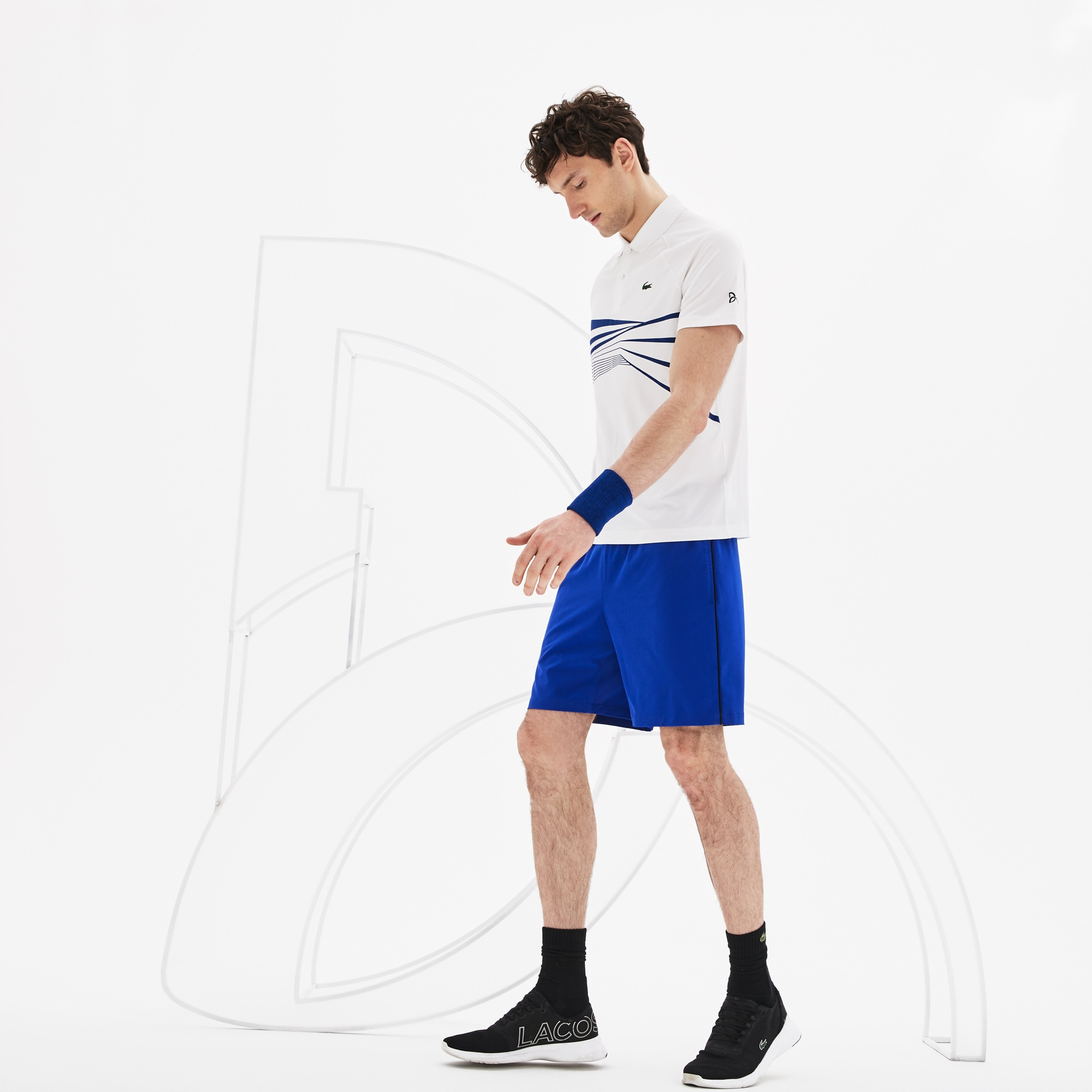 Lacoste Mens Novak 7 Stretch Woven Short