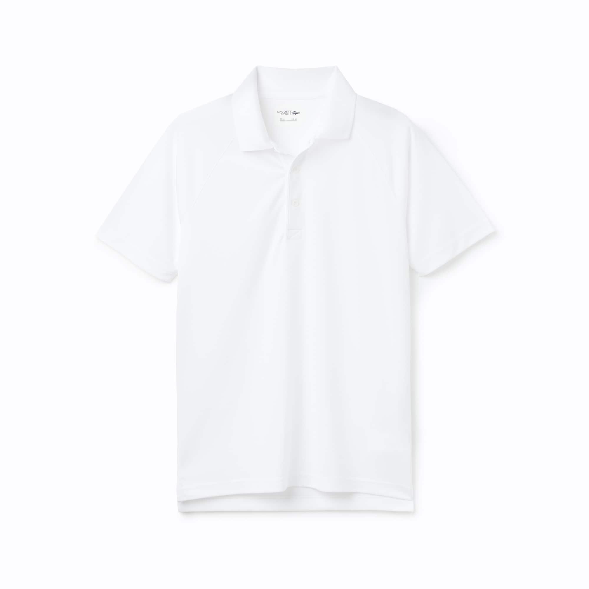 라코스테 Lacoste Mens SPORT Technical Pique Tennis Polo,white