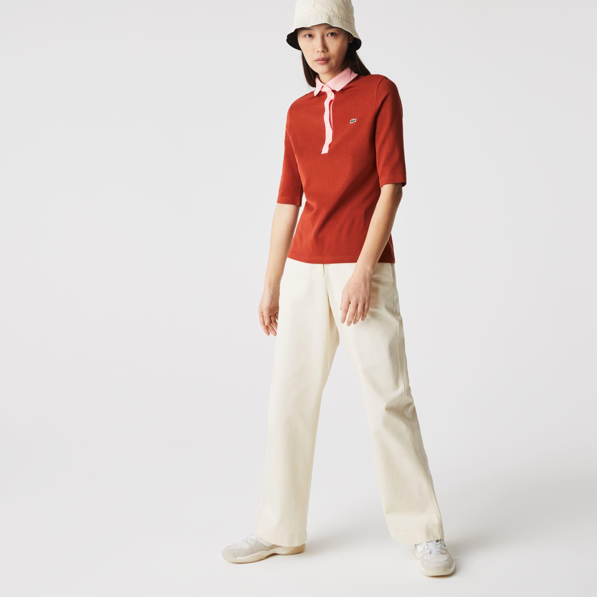 Lacoste Women's Slim Fit Cotton Polo Shirt