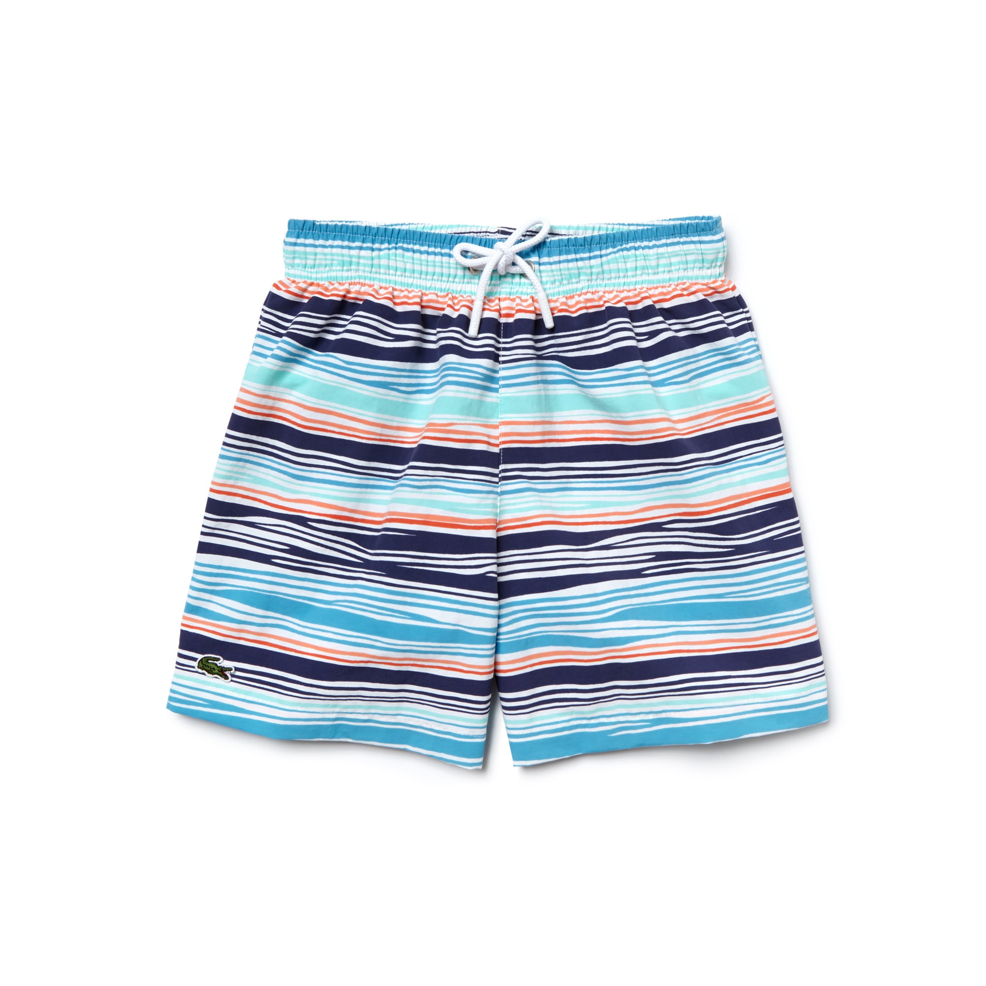Boy's Striped Nylon Swim Shorts