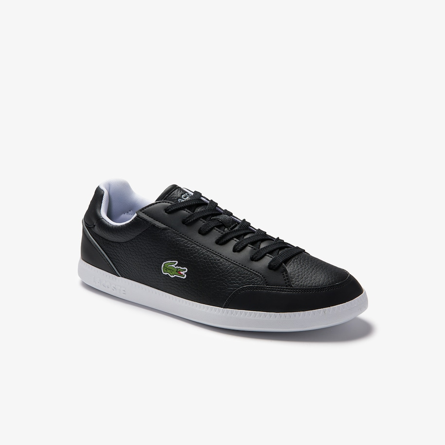 Men's Graduate Cap Tumbled Leather Trainers