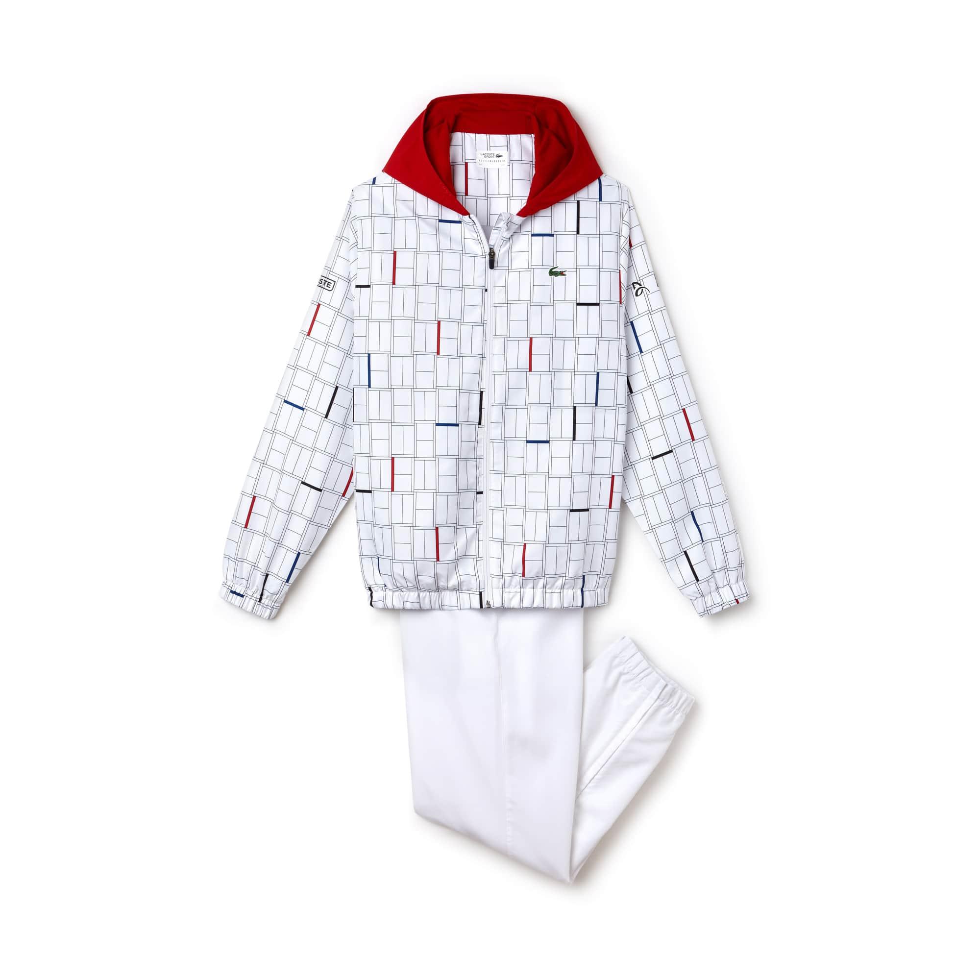 라코스테 스포츠 트랙 수트 Lacoste Mens SPORT Print Tracksuit - Novak Djokovic Collection,white/red-navy-black