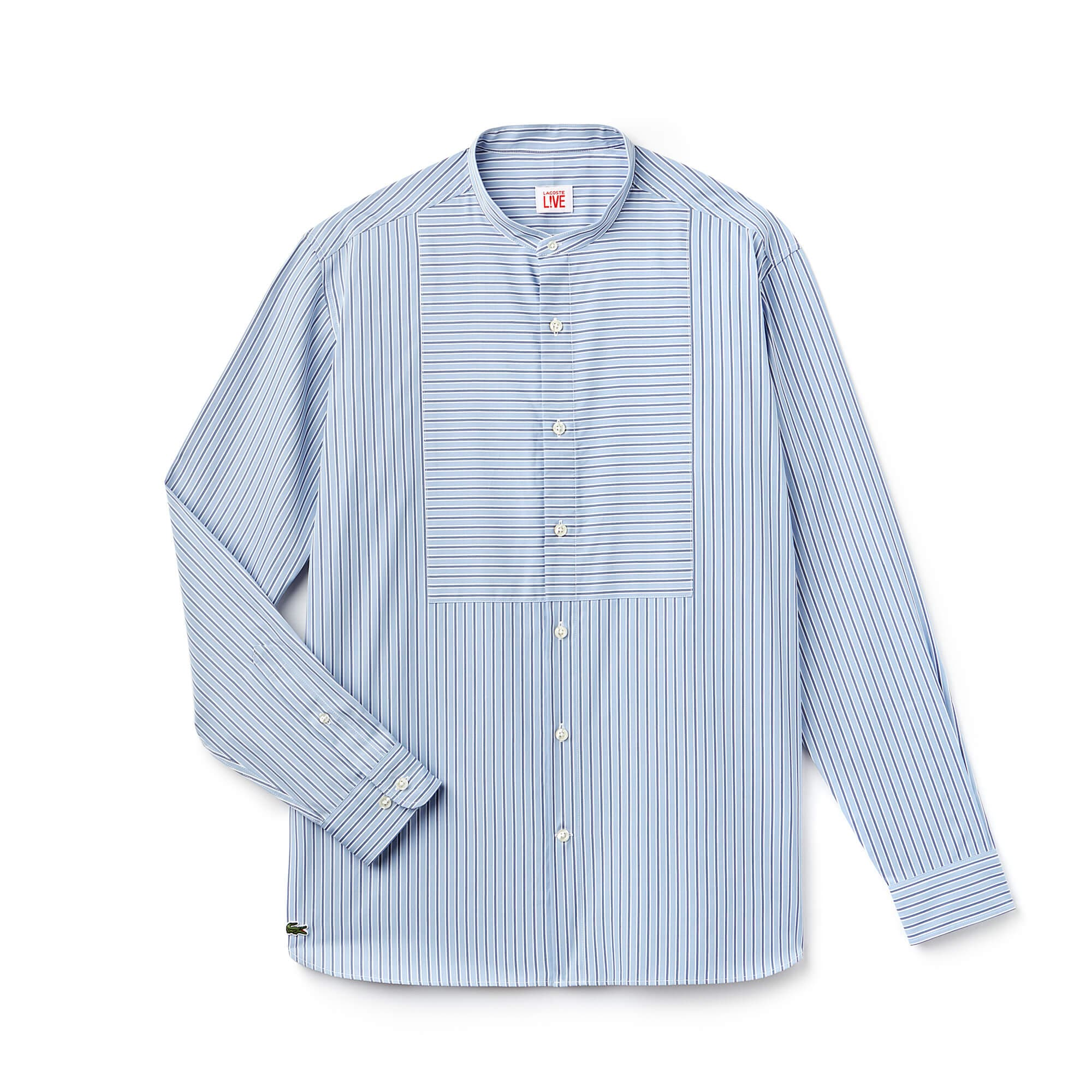 Men's LIVE Boxy Fit Striped Poplin Shirt