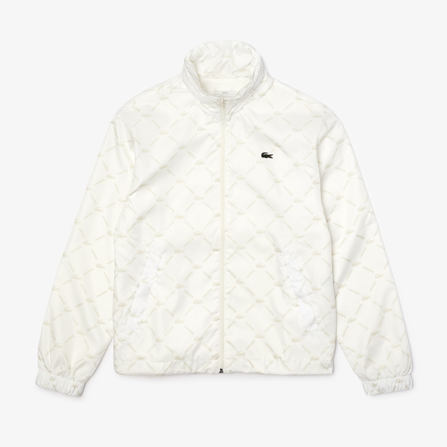 Unisex Lacoste LIVE Zippered Print Canvas Jacket