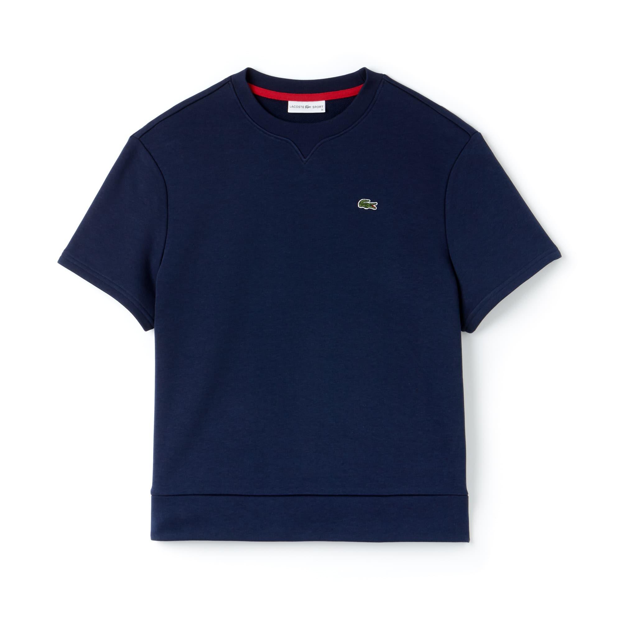라코스테 스포츠 반팔 티셔츠 Womens Lacoste SPORT Fleece Tennis Sweatshirt,navy blue/goji red